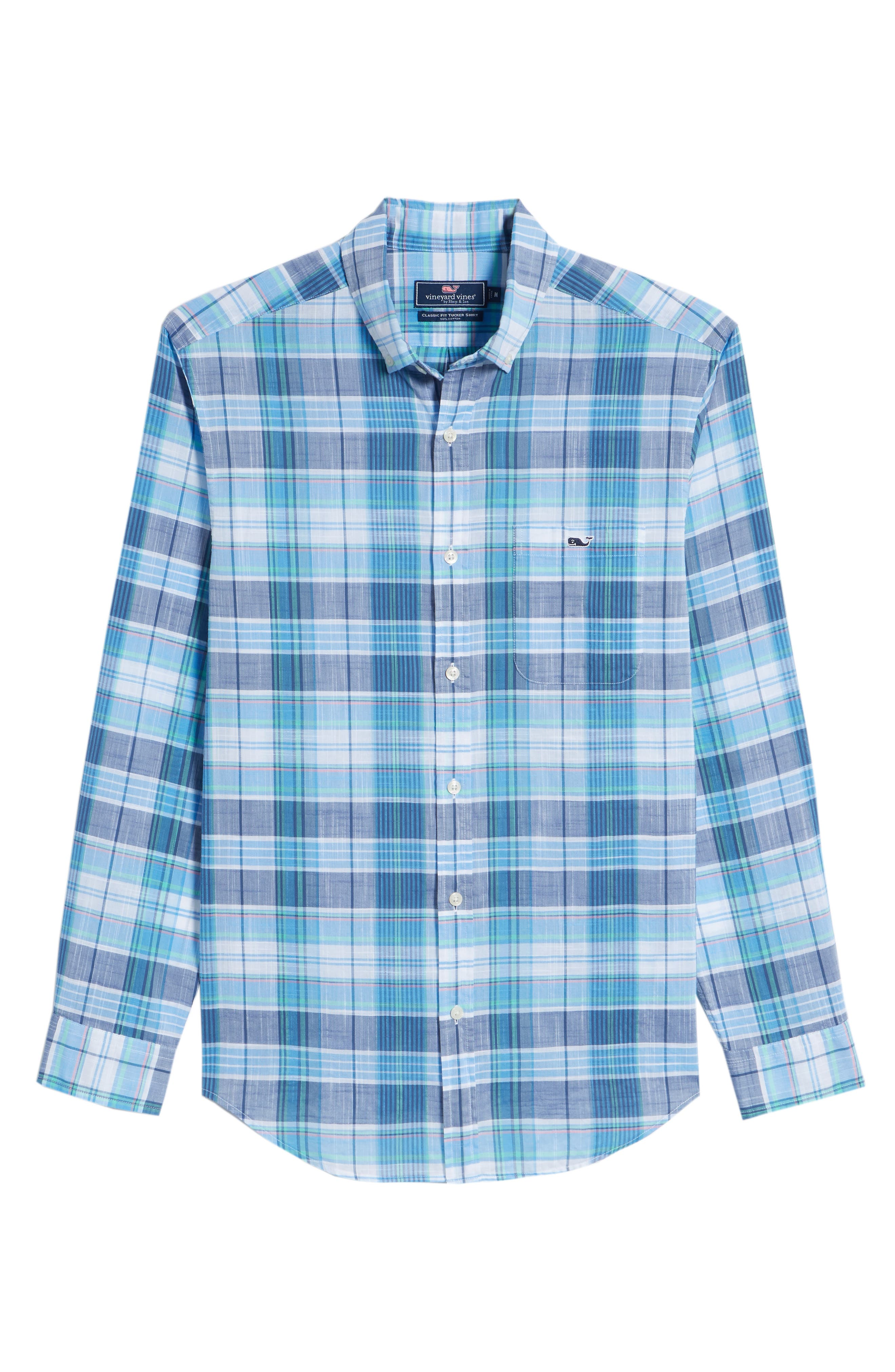 Smith Point Tucker Classic Fit Plaid Sport Shirt,                             Alternate thumbnail 6, color,                             461