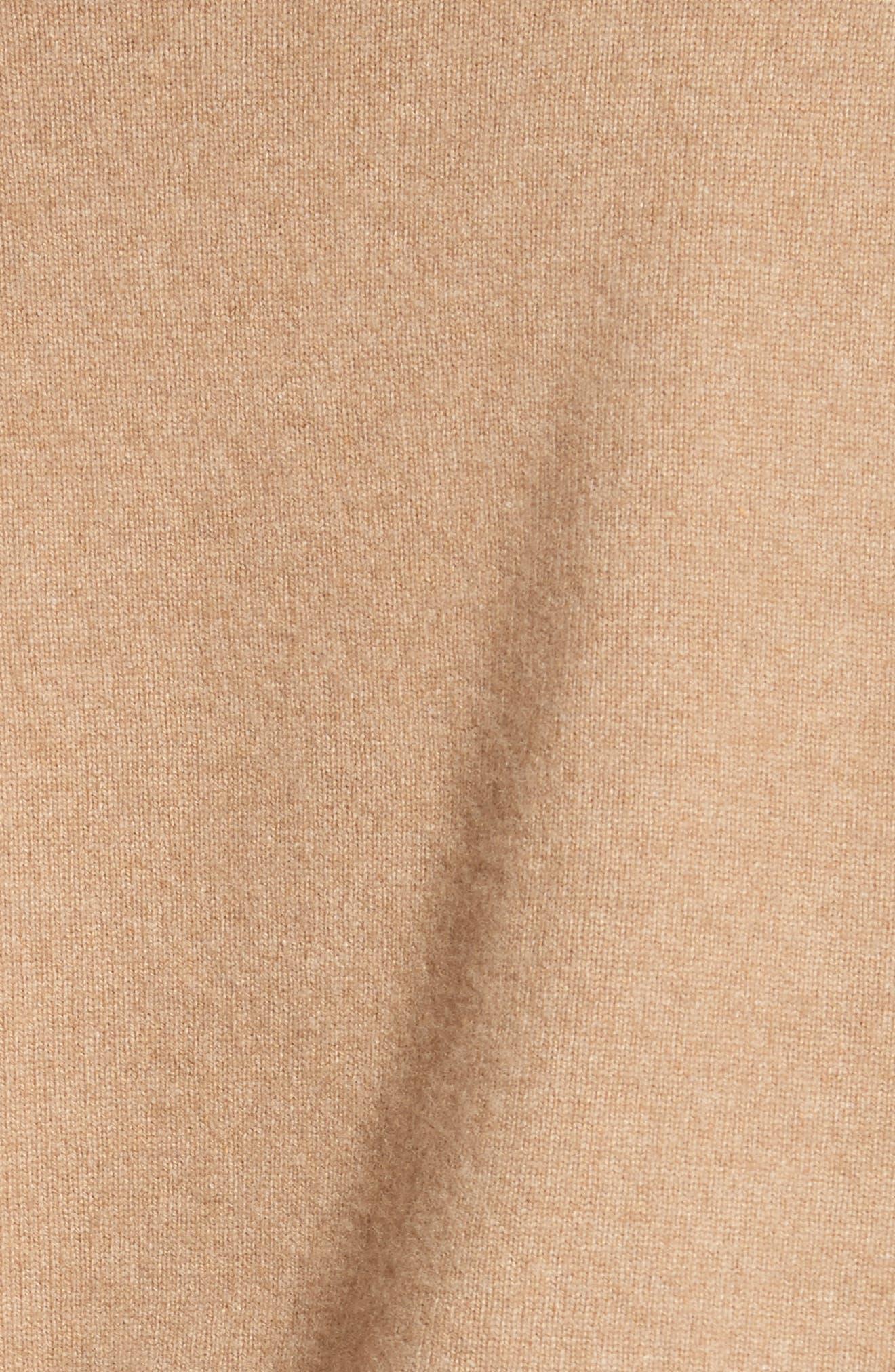 Asymmetrical Wool & Cashmere Blend Sweater Dress,                             Alternate thumbnail 5, color,                             204