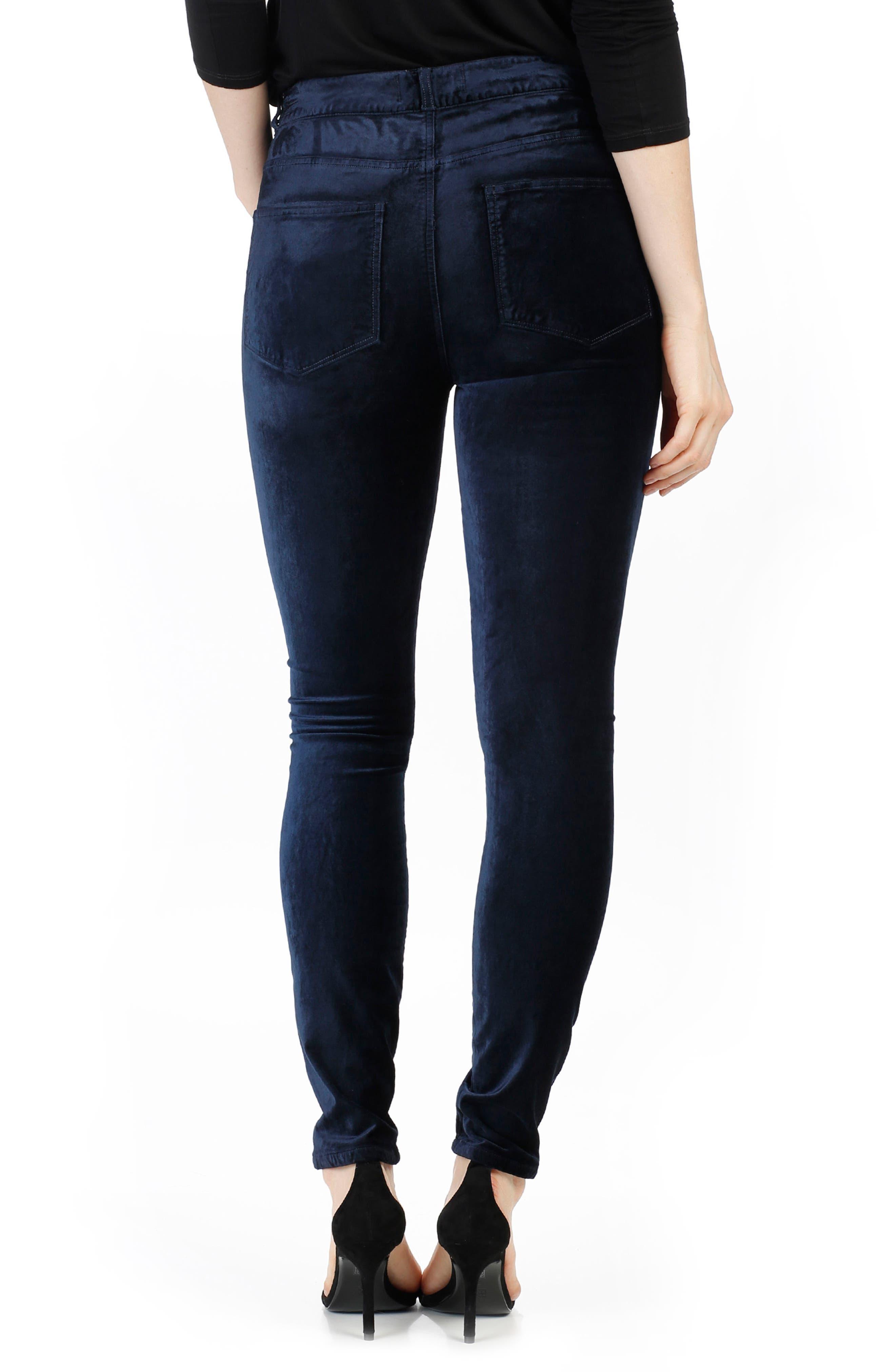 Hoxton Velvet Skinny Jeans,                             Alternate thumbnail 2, color,