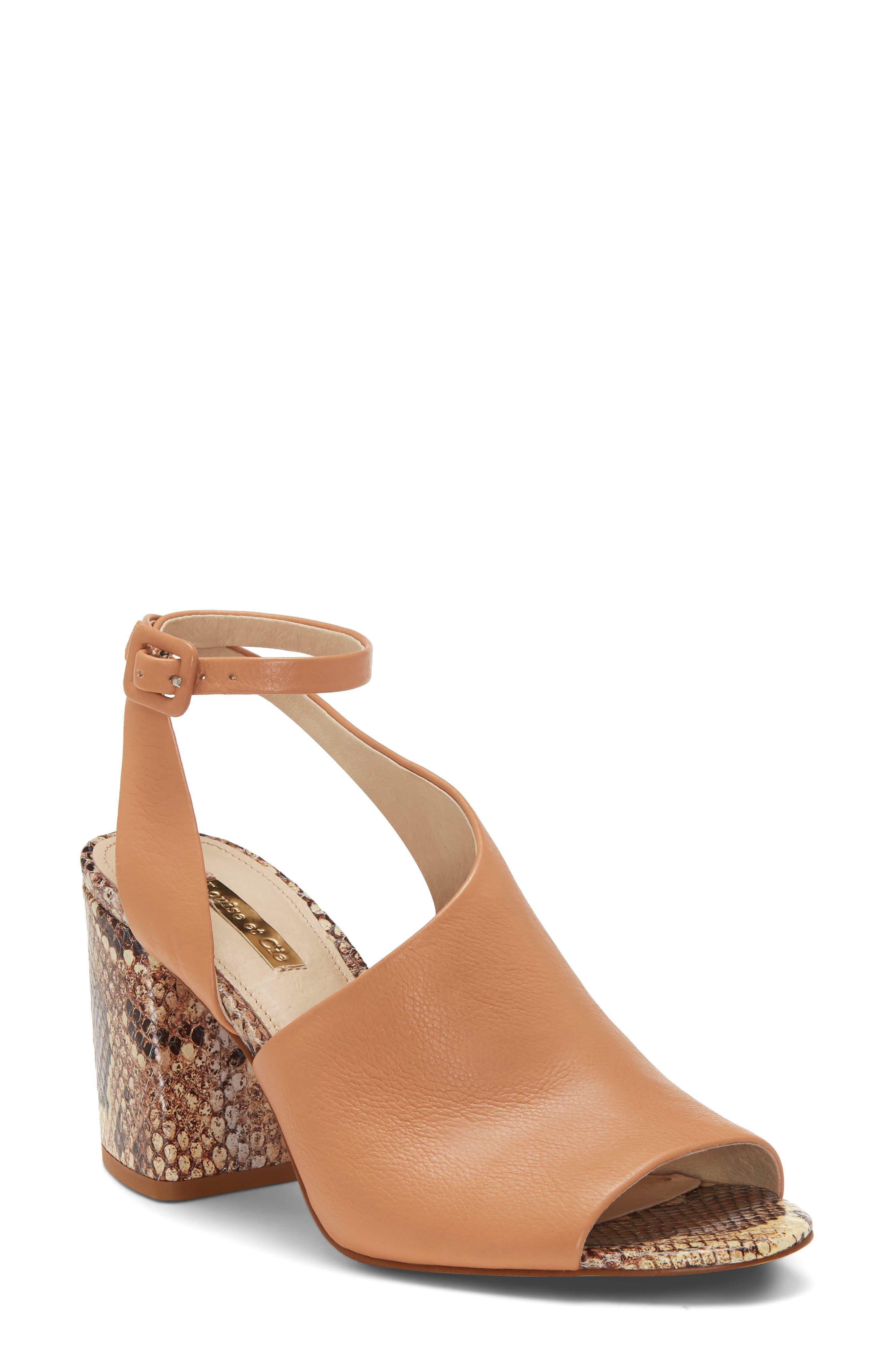 Louise Et Cie Kyvie Asymmetric Shield Sandal- Pink