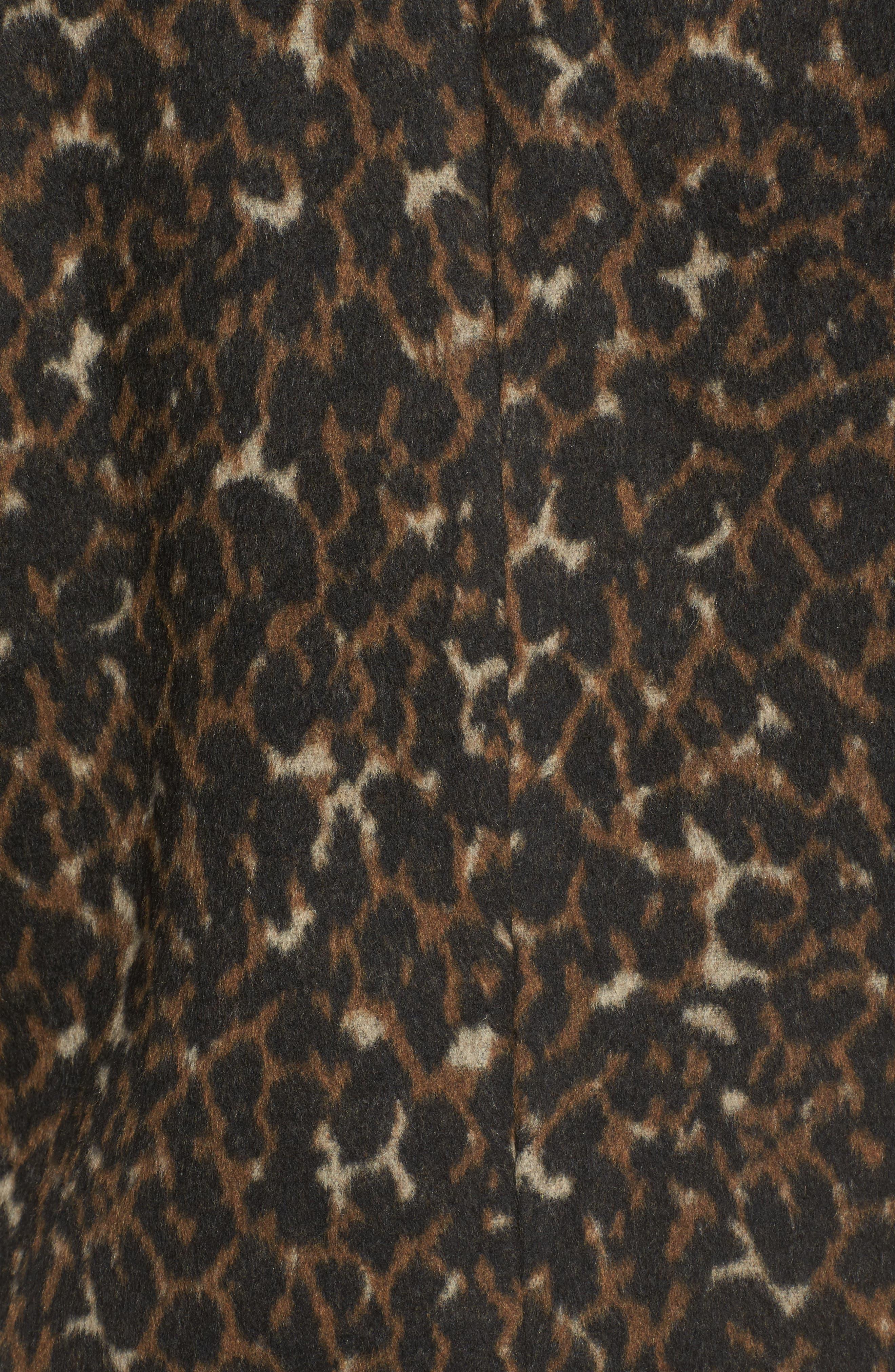 Animal Print Coat,                             Alternate thumbnail 6, color,                             001