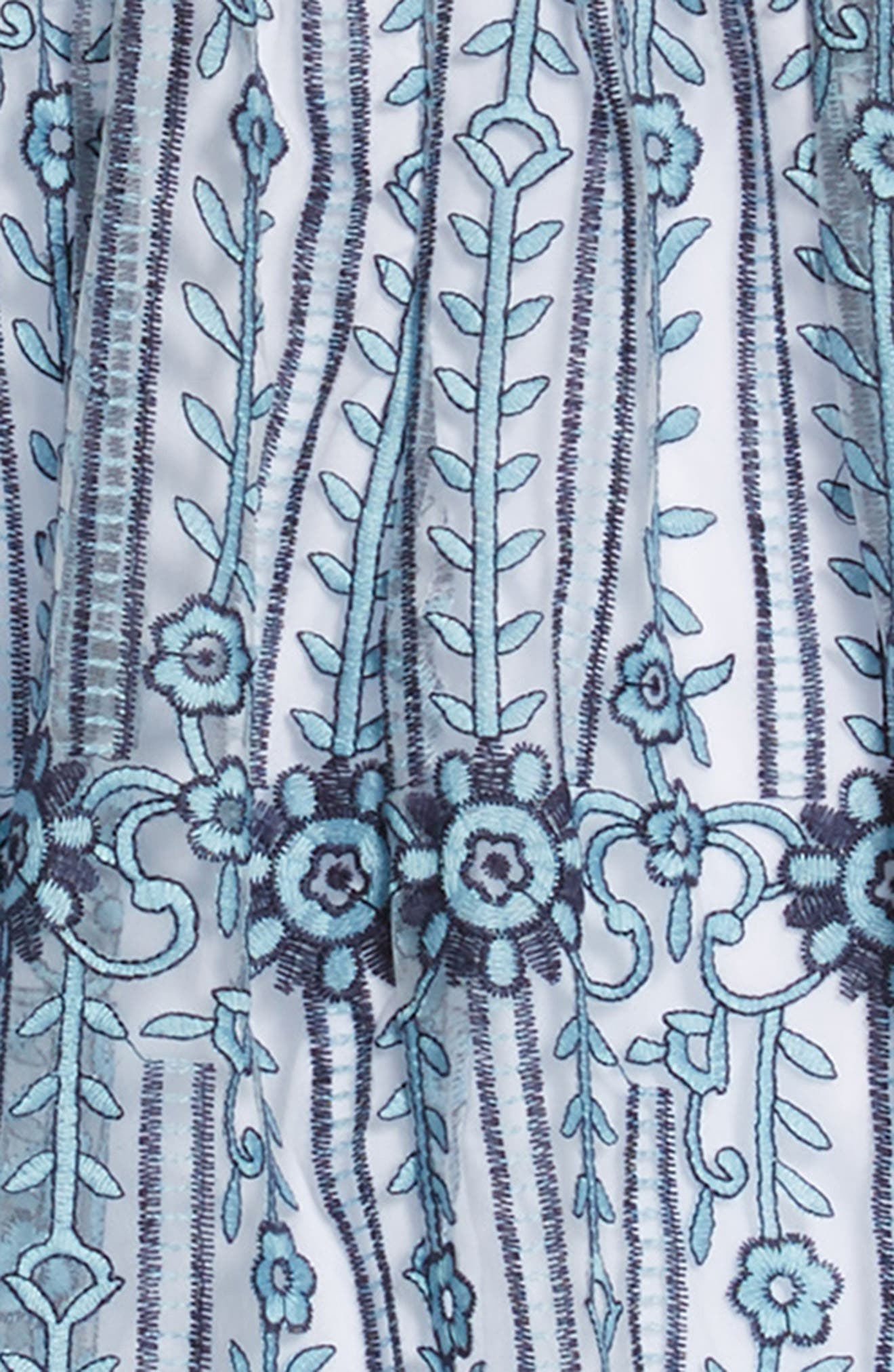 Embroidered Maxi Dress,                             Alternate thumbnail 3, color,                             400