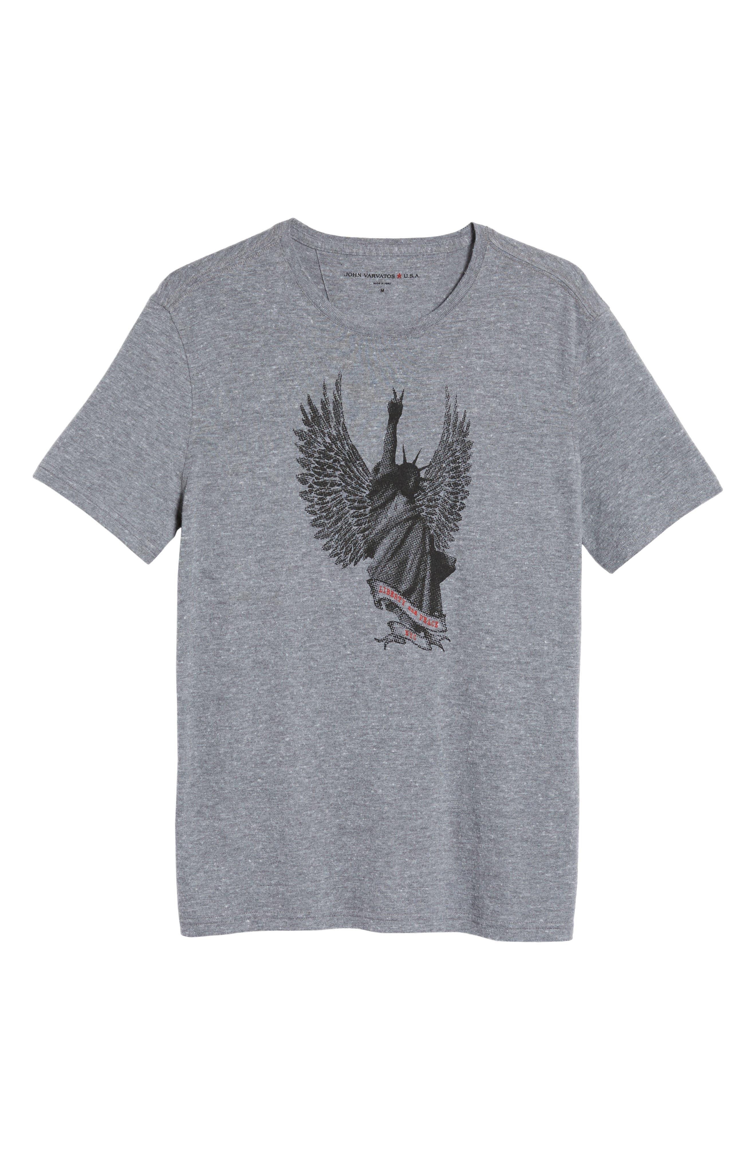 Liberty Wings Graphic T-Shirt,                             Alternate thumbnail 6, color,                             073