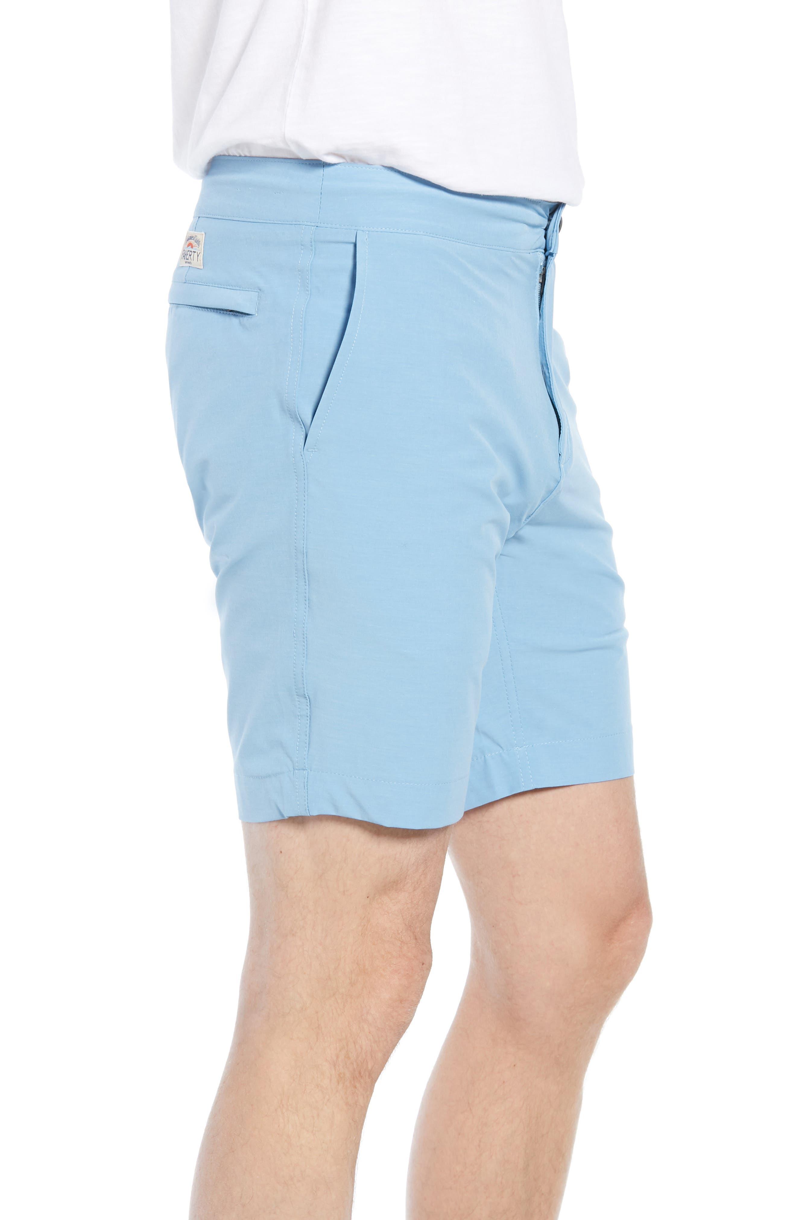 All Day Flat Front Shorts,                             Alternate thumbnail 3, color,                             COASTAL BLUE