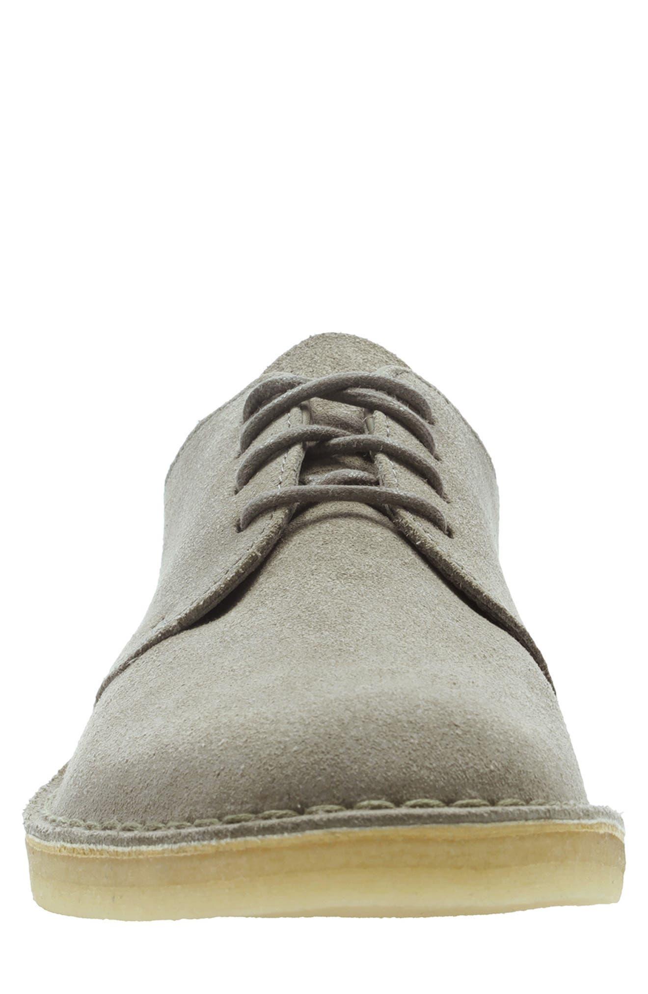 Clarks<sup>®</sup> 'Desert London' Plain Toe Derby,                             Alternate thumbnail 3, color,                             GREY SUEDE