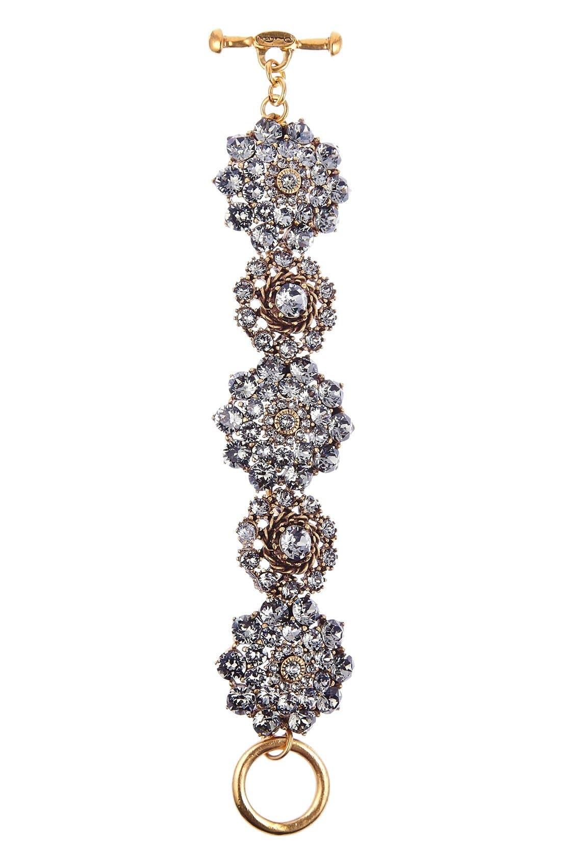 Swarovski Crystal Bracelet,                             Main thumbnail 1, color,                             BLACK