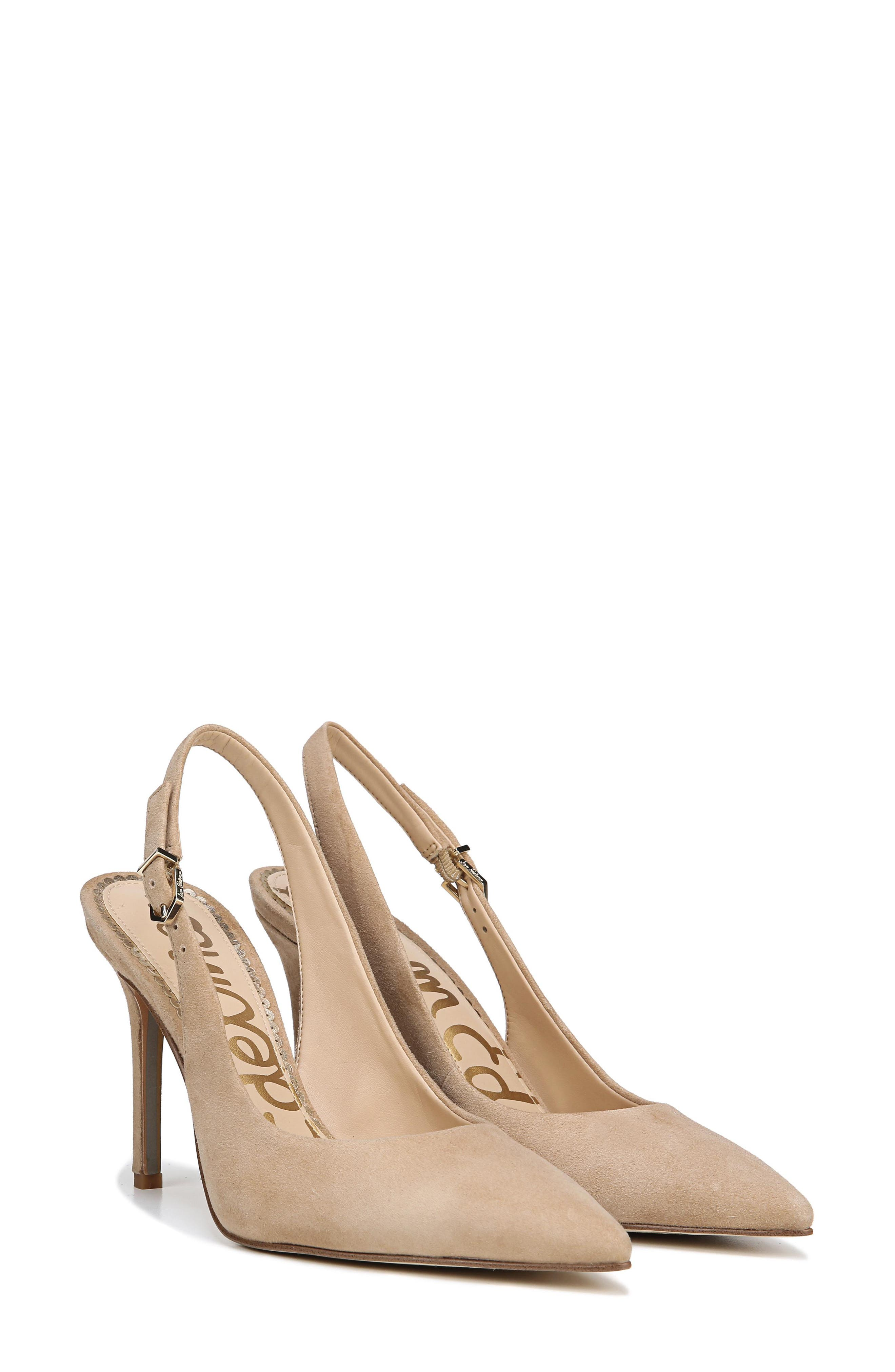 Hastings Slingback Pump,                             Alternate thumbnail 9, color,                             OATMEAL SUEDE LEATHER