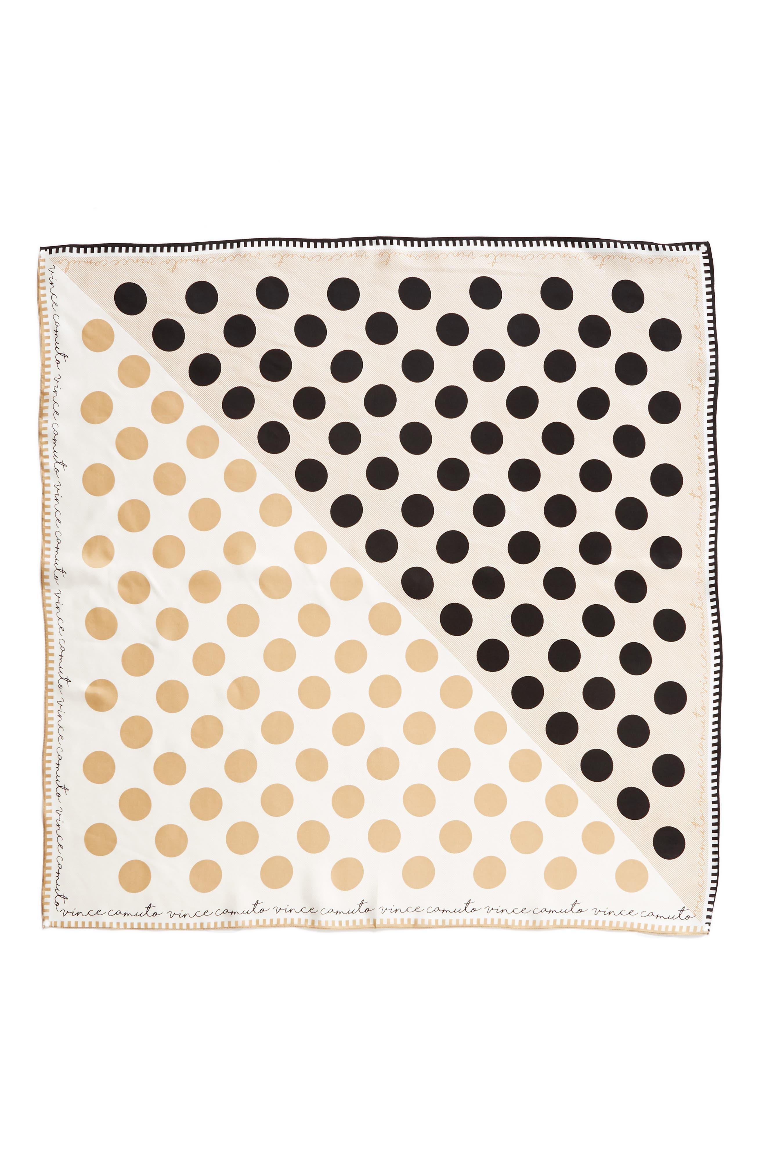 Polka Stripe Square Silk Scarf,                             Alternate thumbnail 8, color,