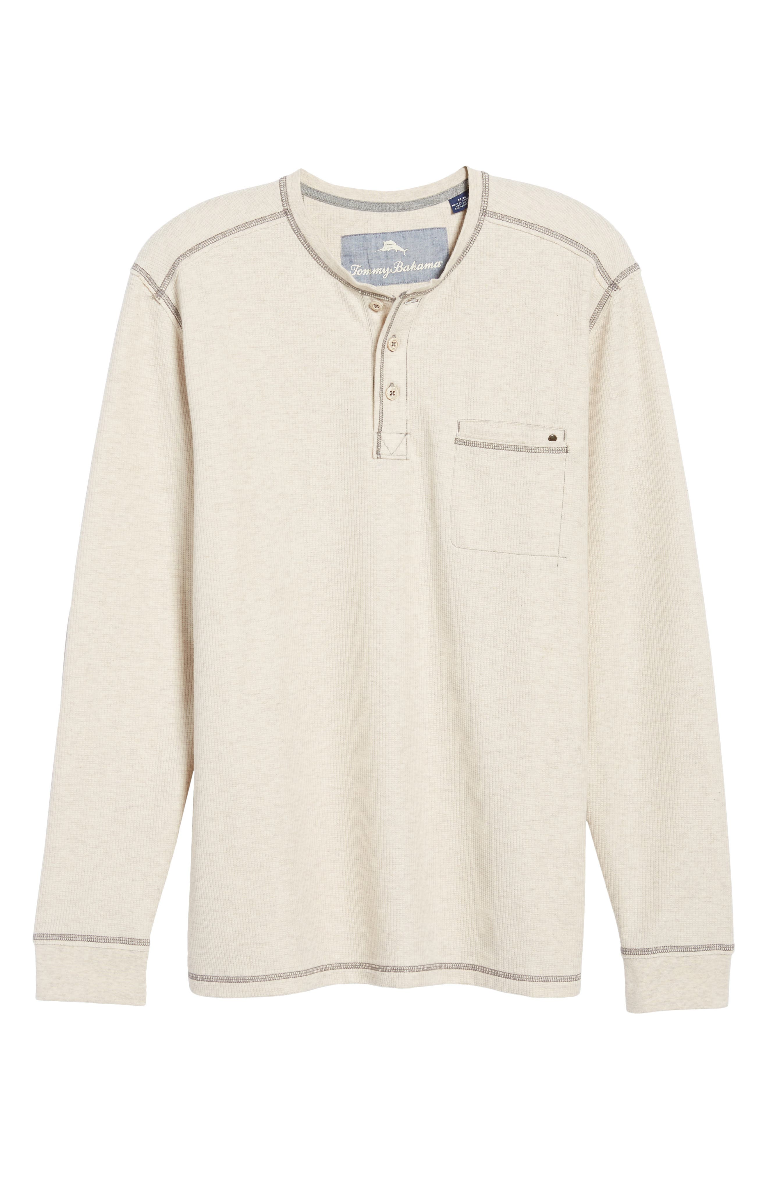 Island Thermal Standard Fit Thermal Henley,                             Alternate thumbnail 6, color,                             ABALONE HEATHER