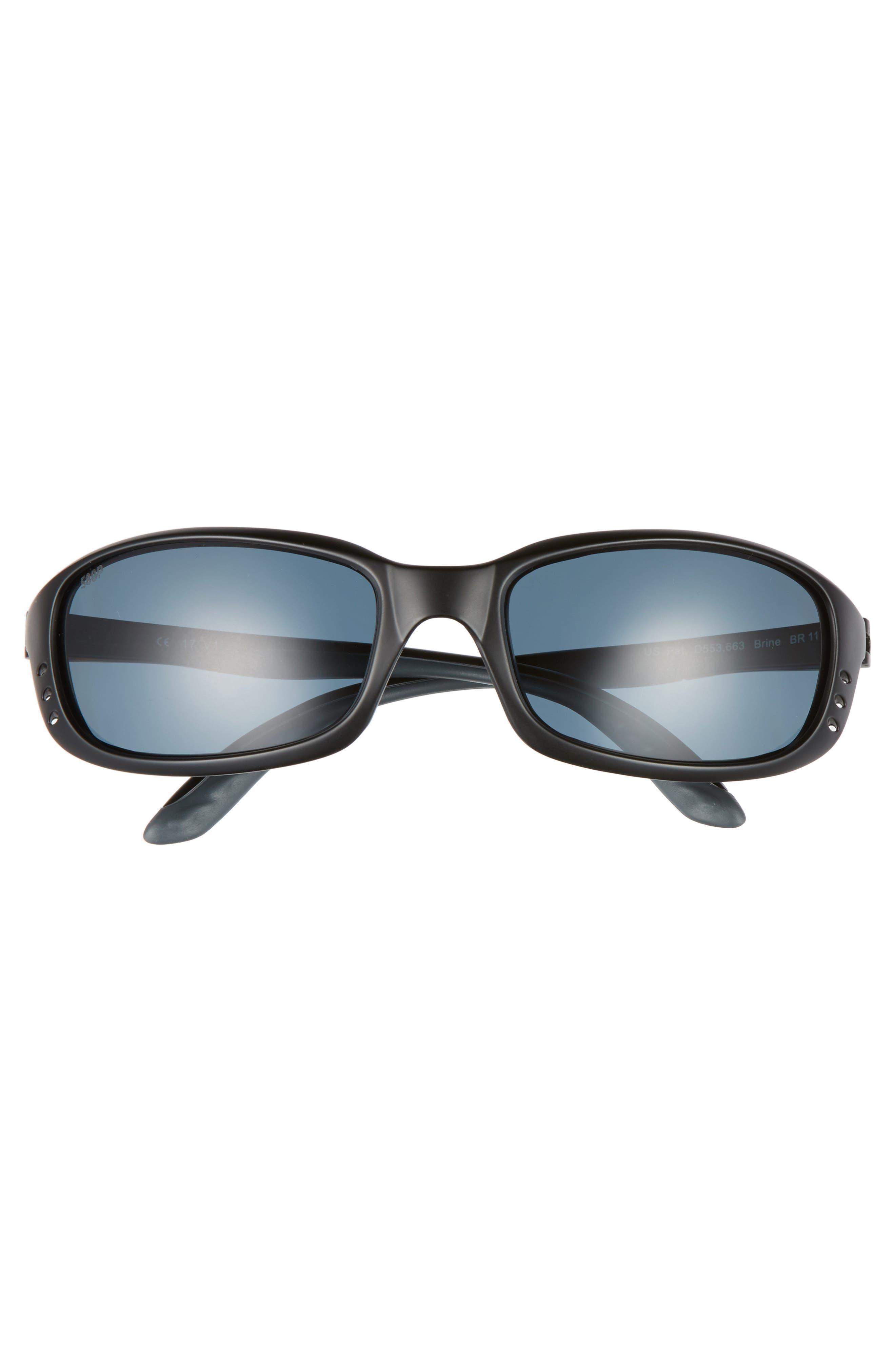 Brine Polarized 60mm Sunglasses,                             Alternate thumbnail 2, color,                             MATTE BLACK/ GREY