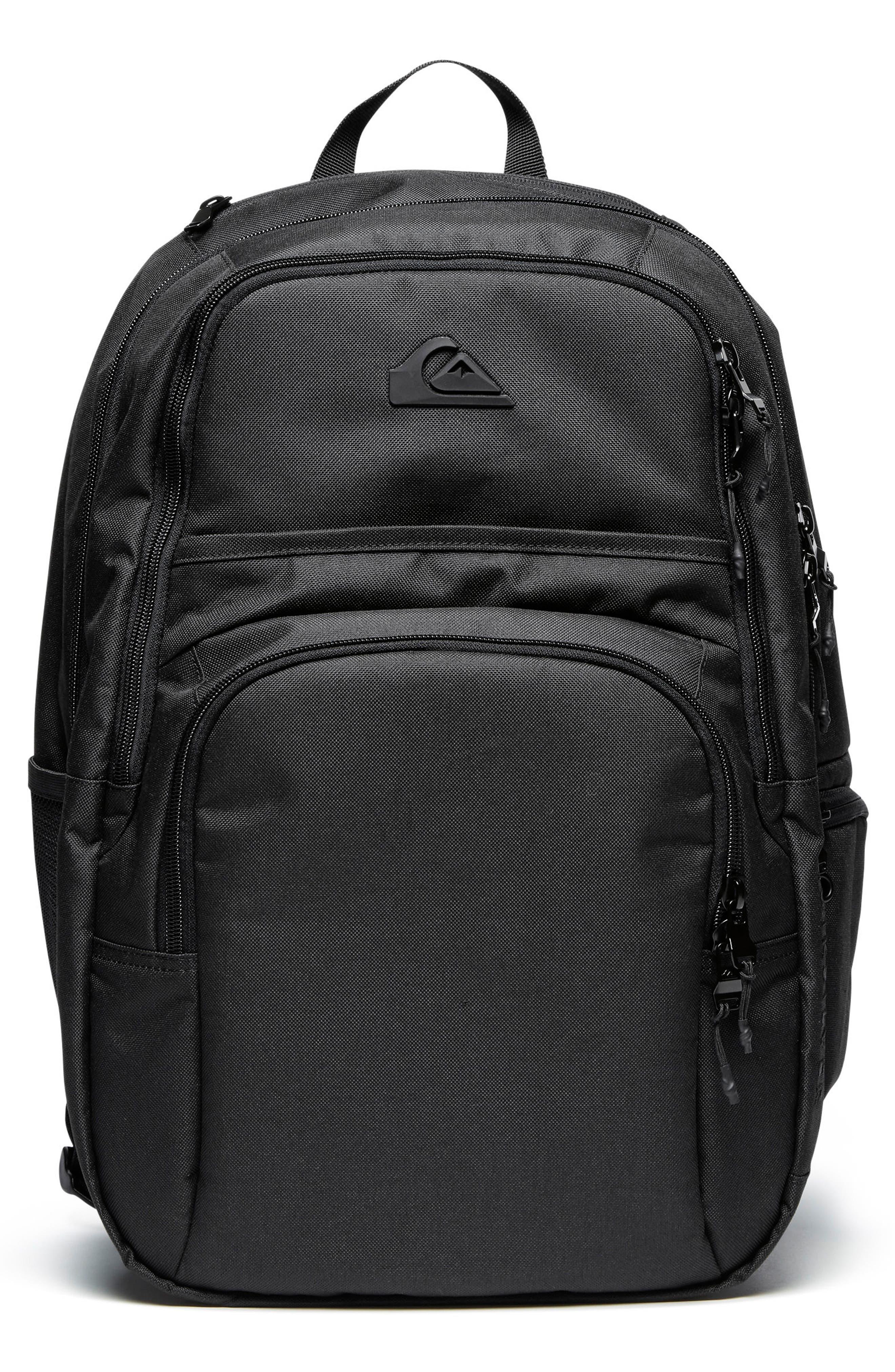 Diaper Backpack,                         Main,                         color, BLACK