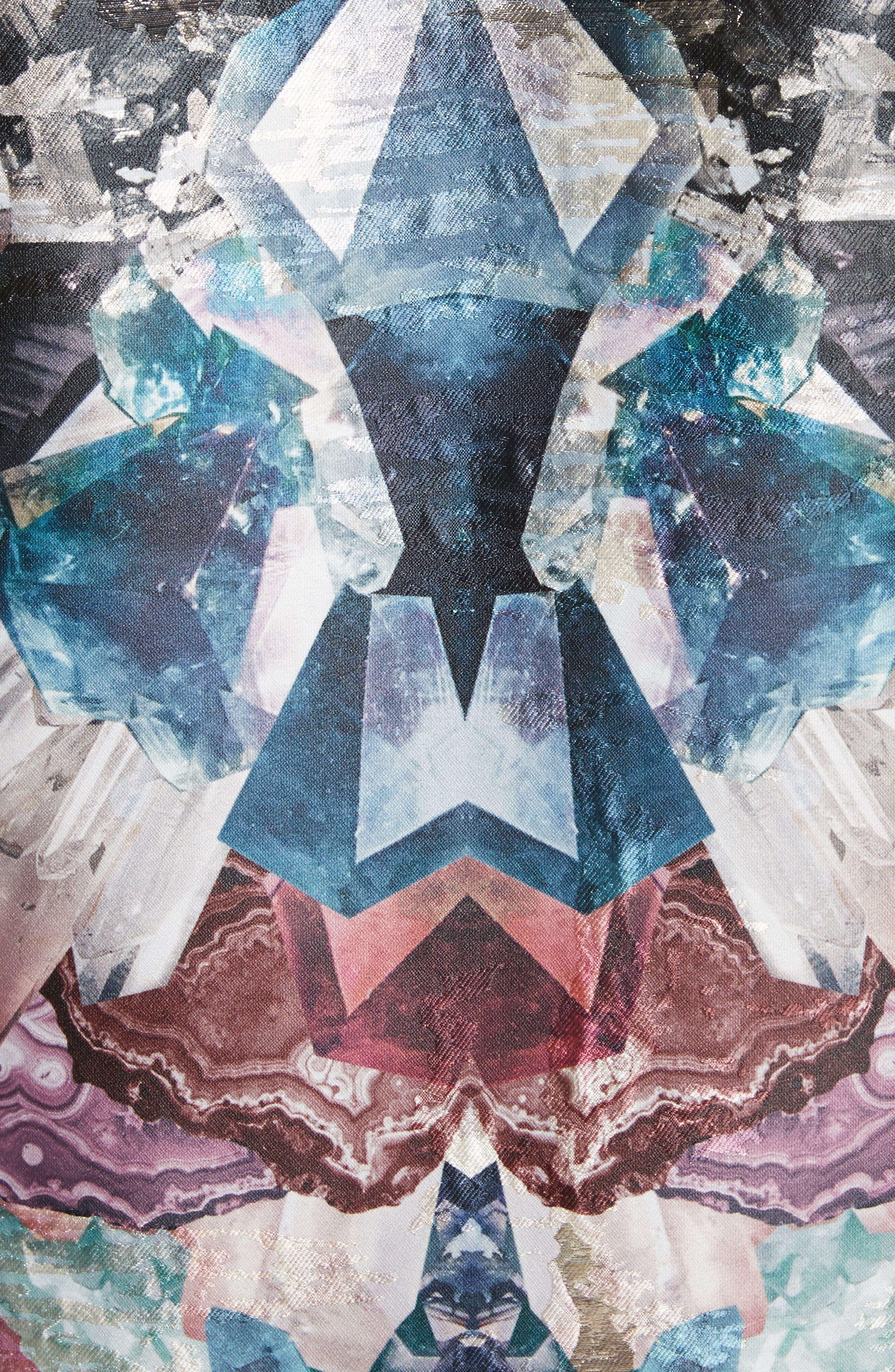 Keris Mirrored Minerals Tulip Fit & Flare Dress,                             Alternate thumbnail 5, color,                             001