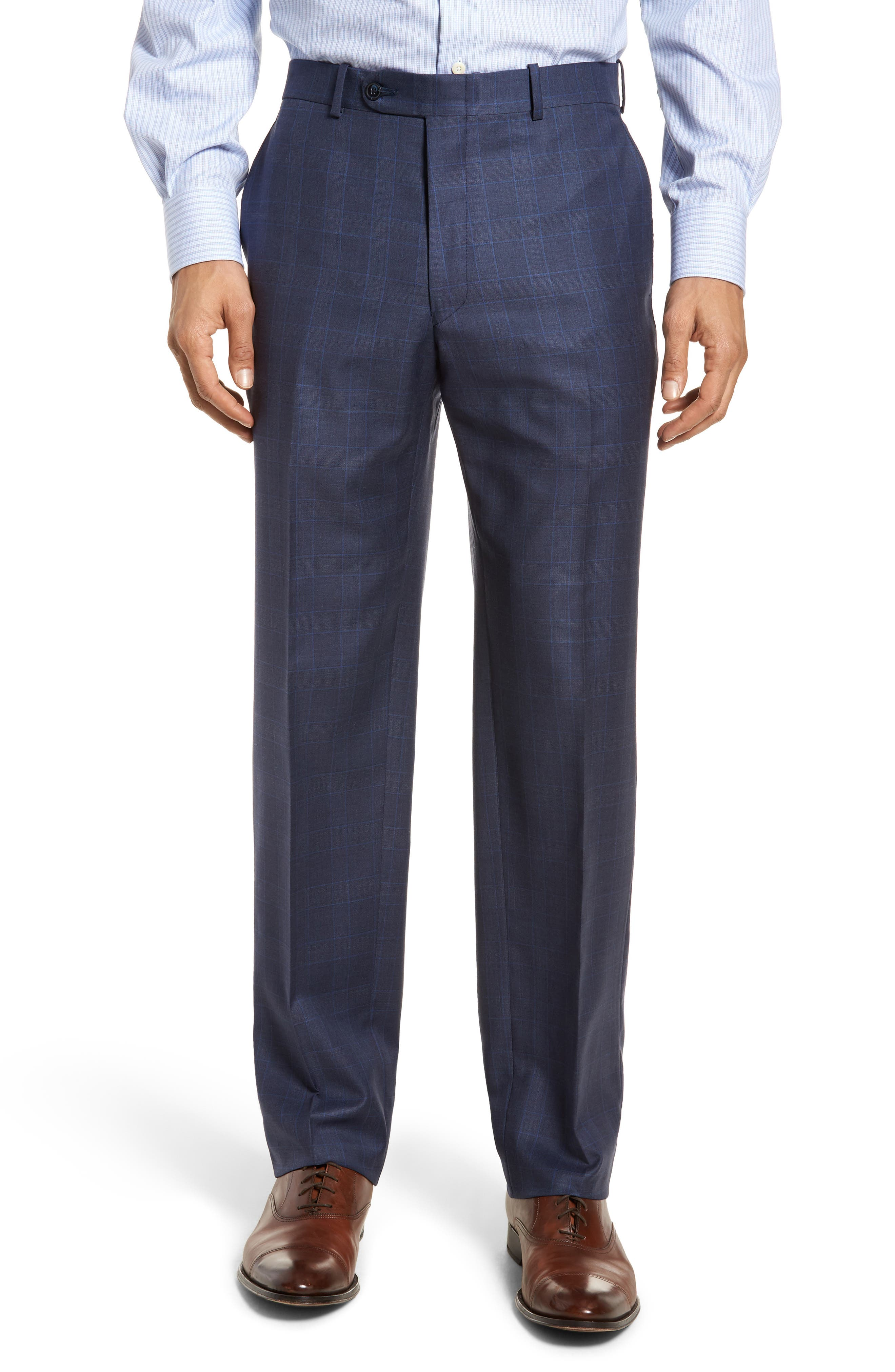 Classic Fit Windowpane Wool Suit,                             Alternate thumbnail 6, color,                             400