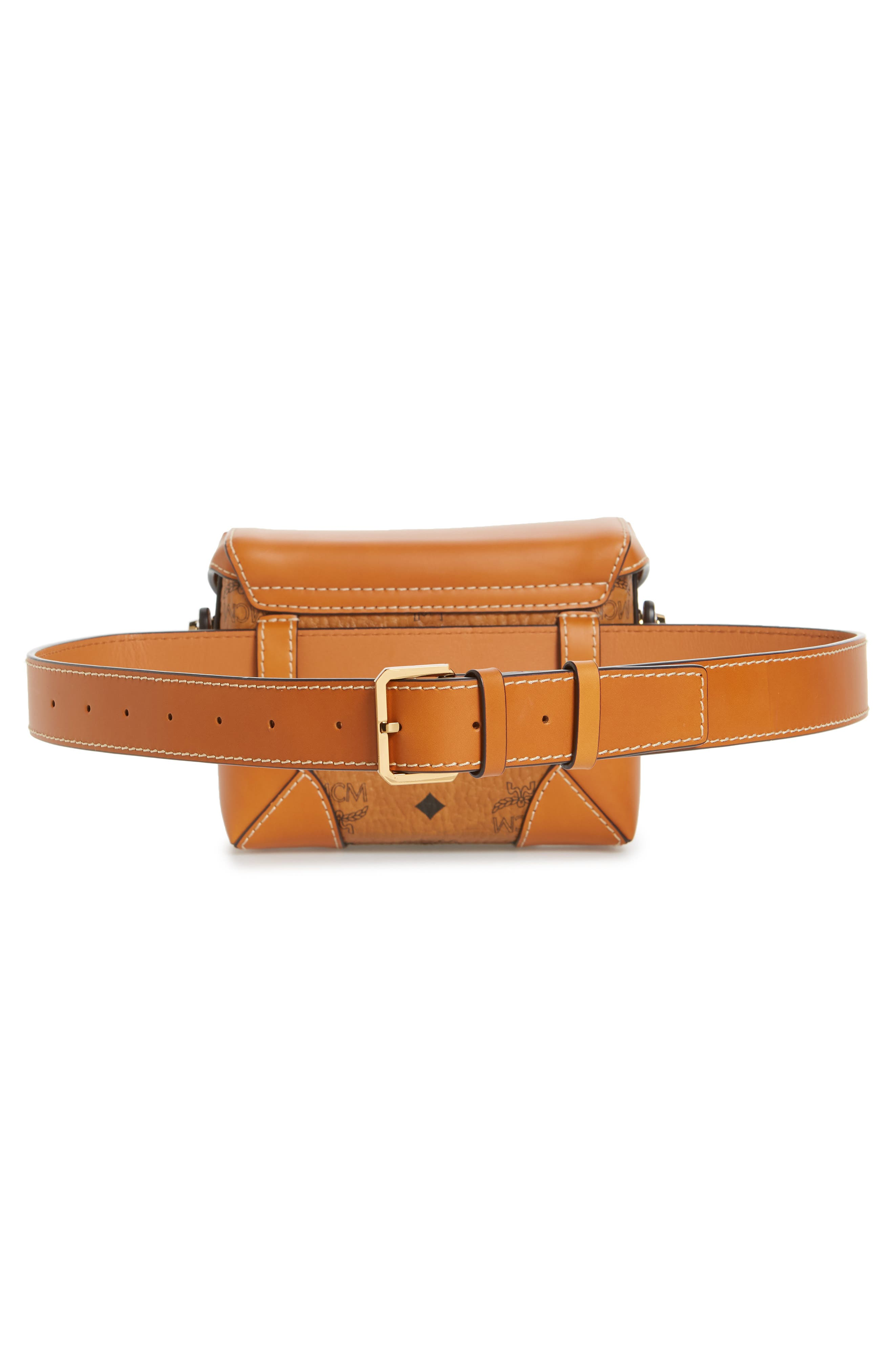 Small Berlin Canvas & Leather Belt Bag,                             Alternate thumbnail 5, color,                             200