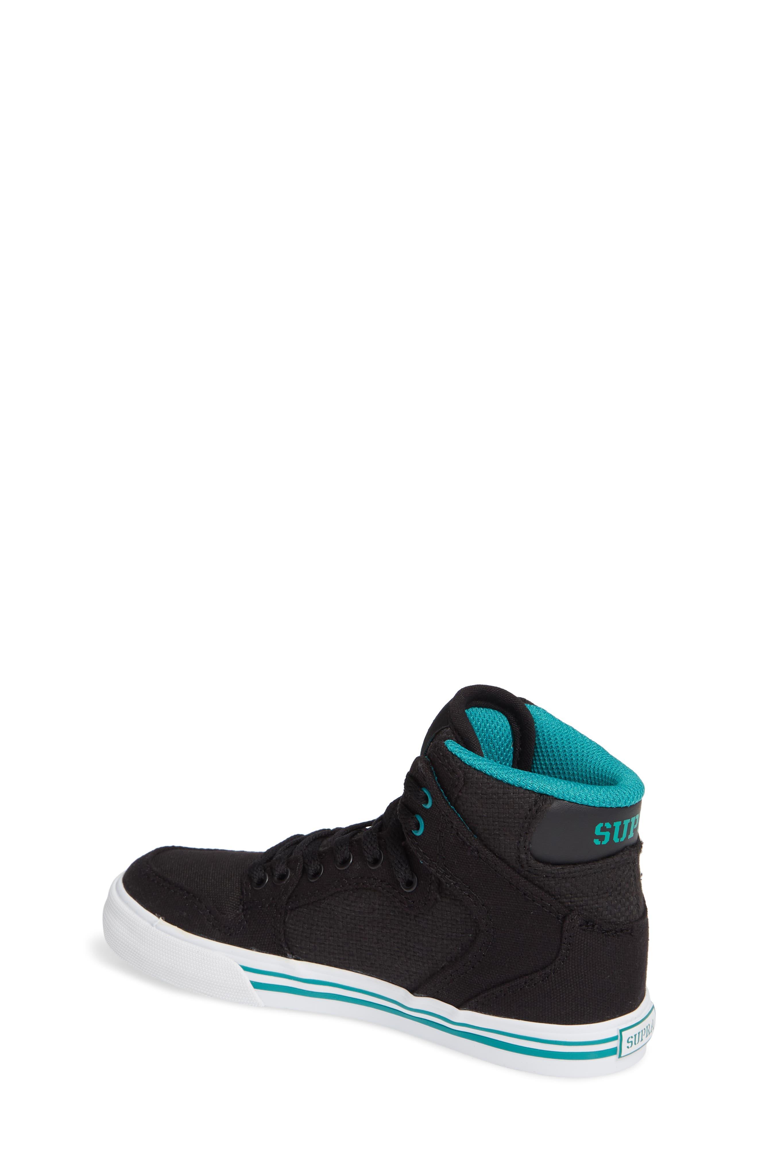 'Vaider' High Top Sneaker,                             Alternate thumbnail 2, color,                             BLACK/ TEAL