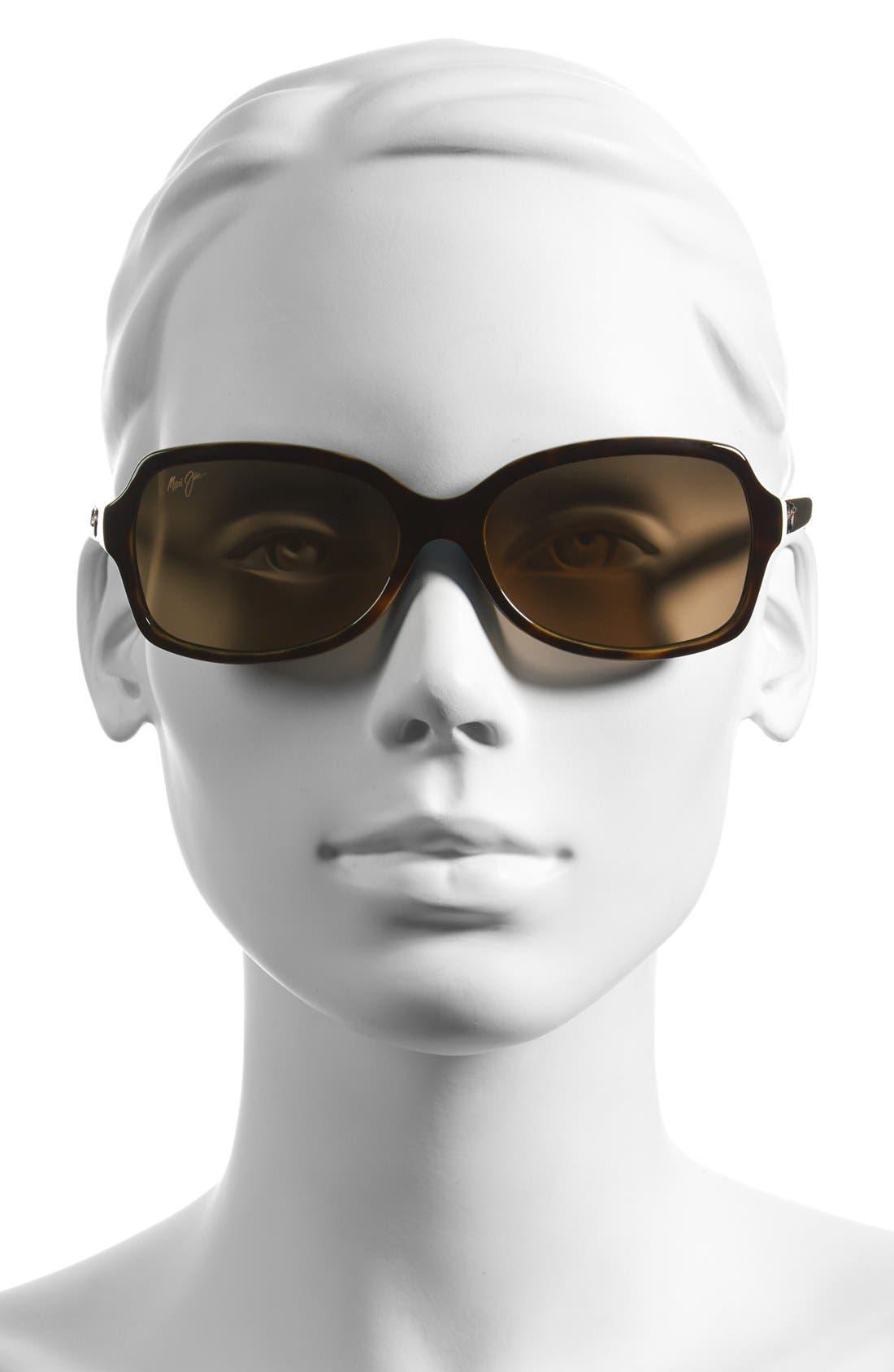 Cloud Break 56mm PolarizedPlus2<sup>®</sup> Sunglasses,                             Alternate thumbnail 2, color,                             TORTOISE PEACOCK/ BLUE/ BRONZE