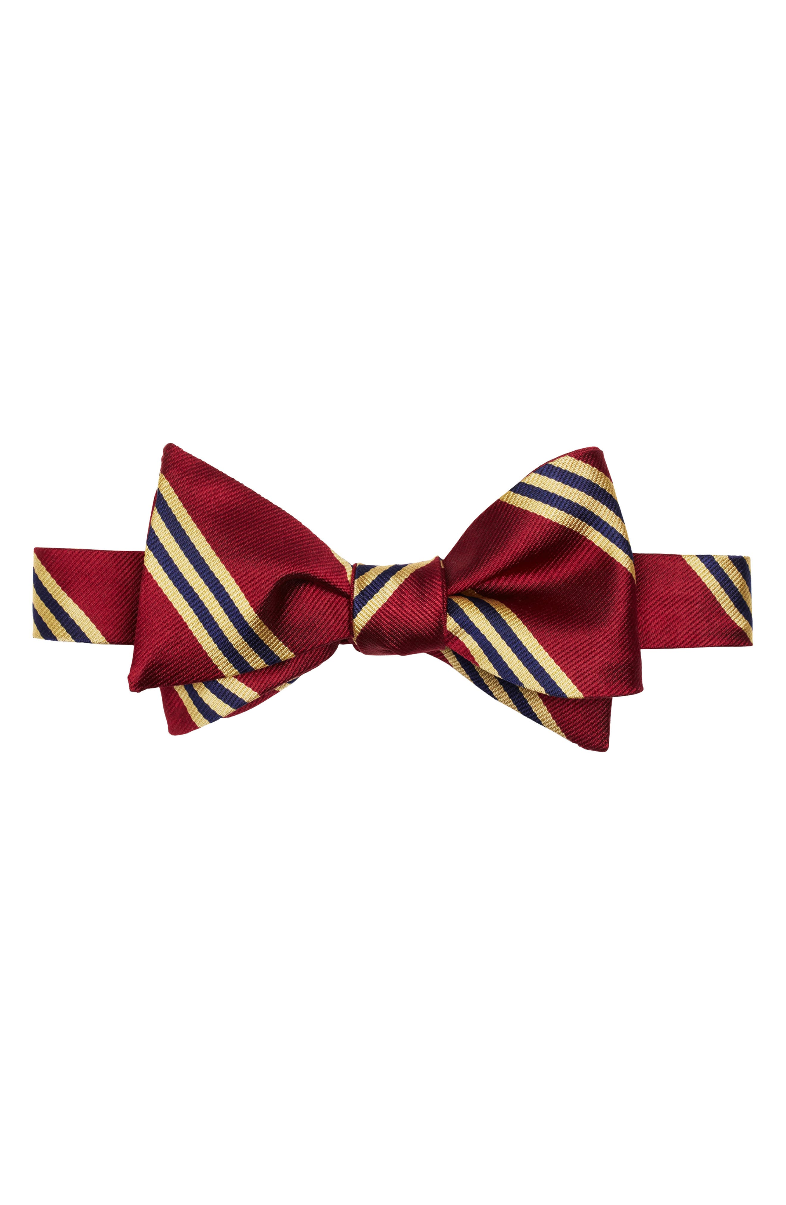 Edwardian Men's Fashion & Clothing Mens Brooks Brothers Silk Stripe Bow Tie $59.50 AT vintagedancer.com