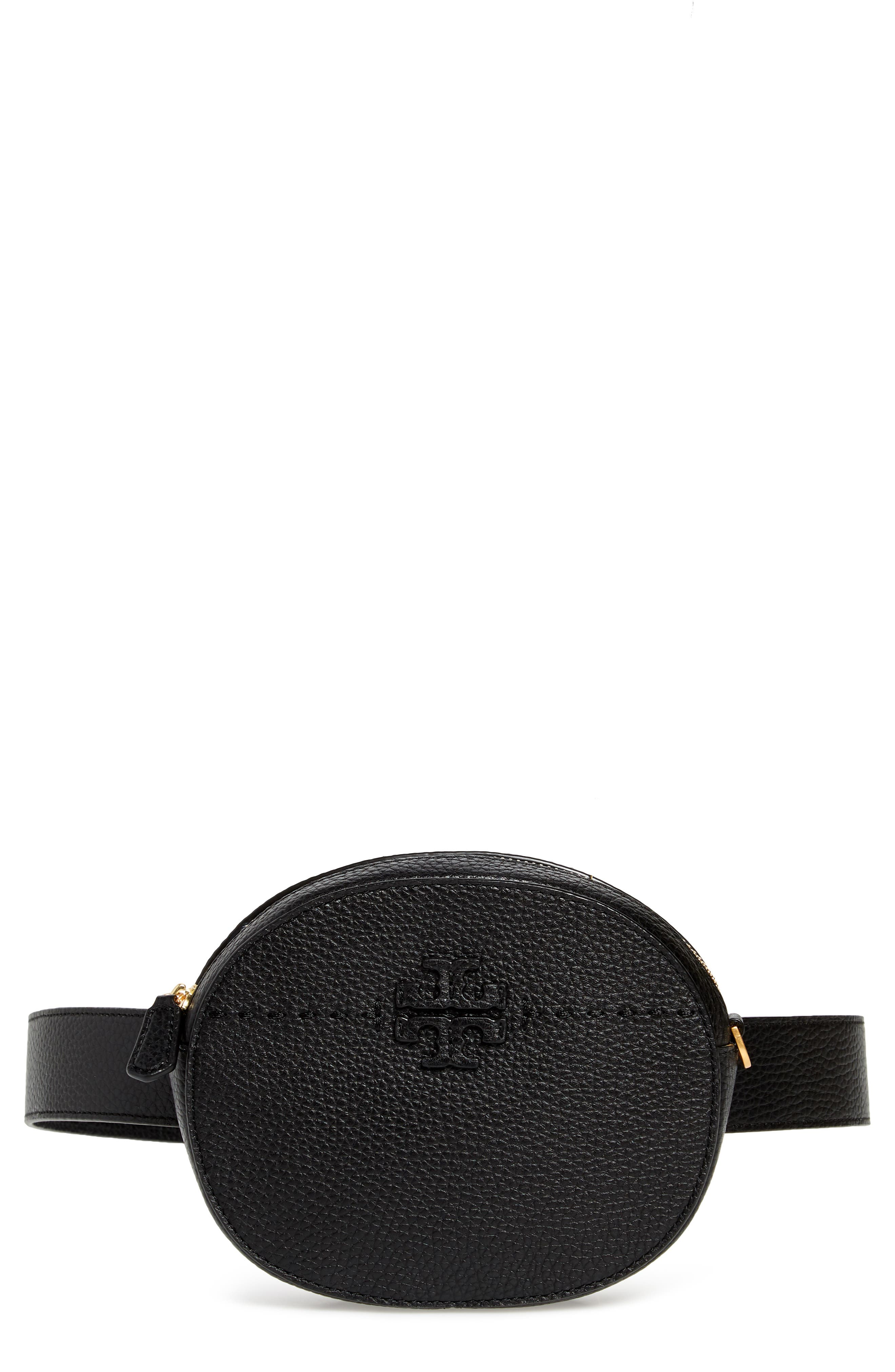 McGraw Leather Belt/Crossbody Bag,                             Main thumbnail 1, color,                             001