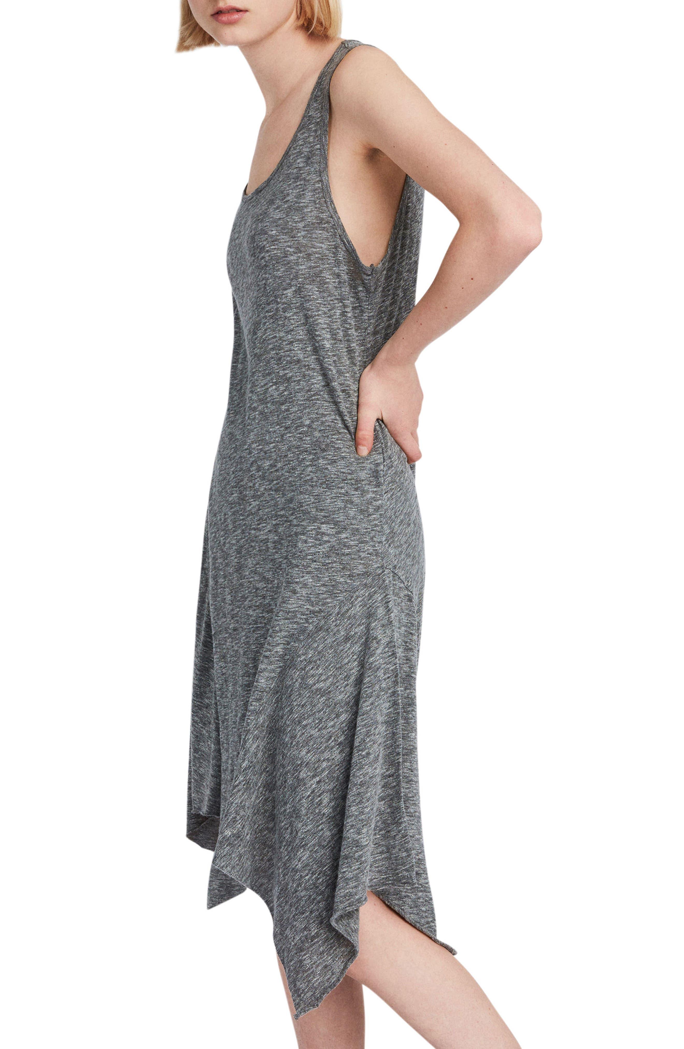 Ella Flame Handkerchief Hem Tank Dress,                             Alternate thumbnail 3, color,                             034