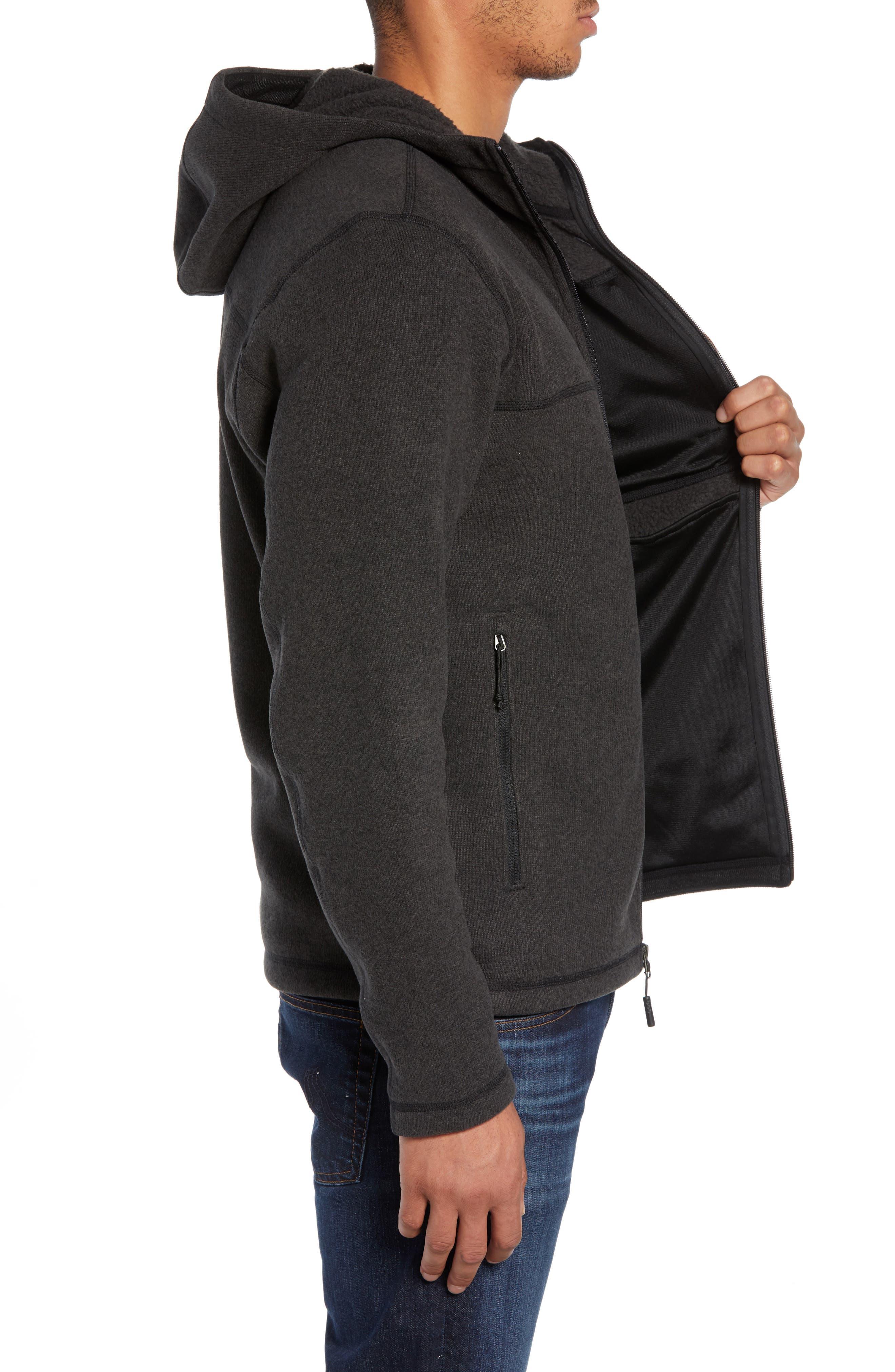 Gordon Lyons Relaxed Fit Sweater Fleece Hoodie,                             Alternate thumbnail 3, color,                             TNF BLACK HEATHER