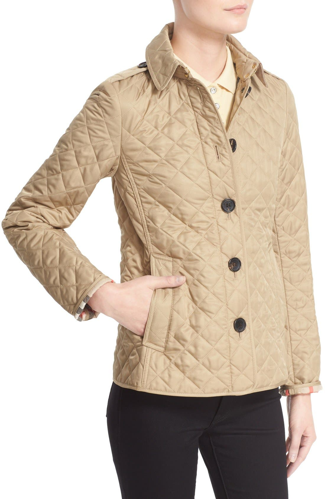 Ashurst Quilted Jacket,                             Alternate thumbnail 5, color,                             CANVAS
