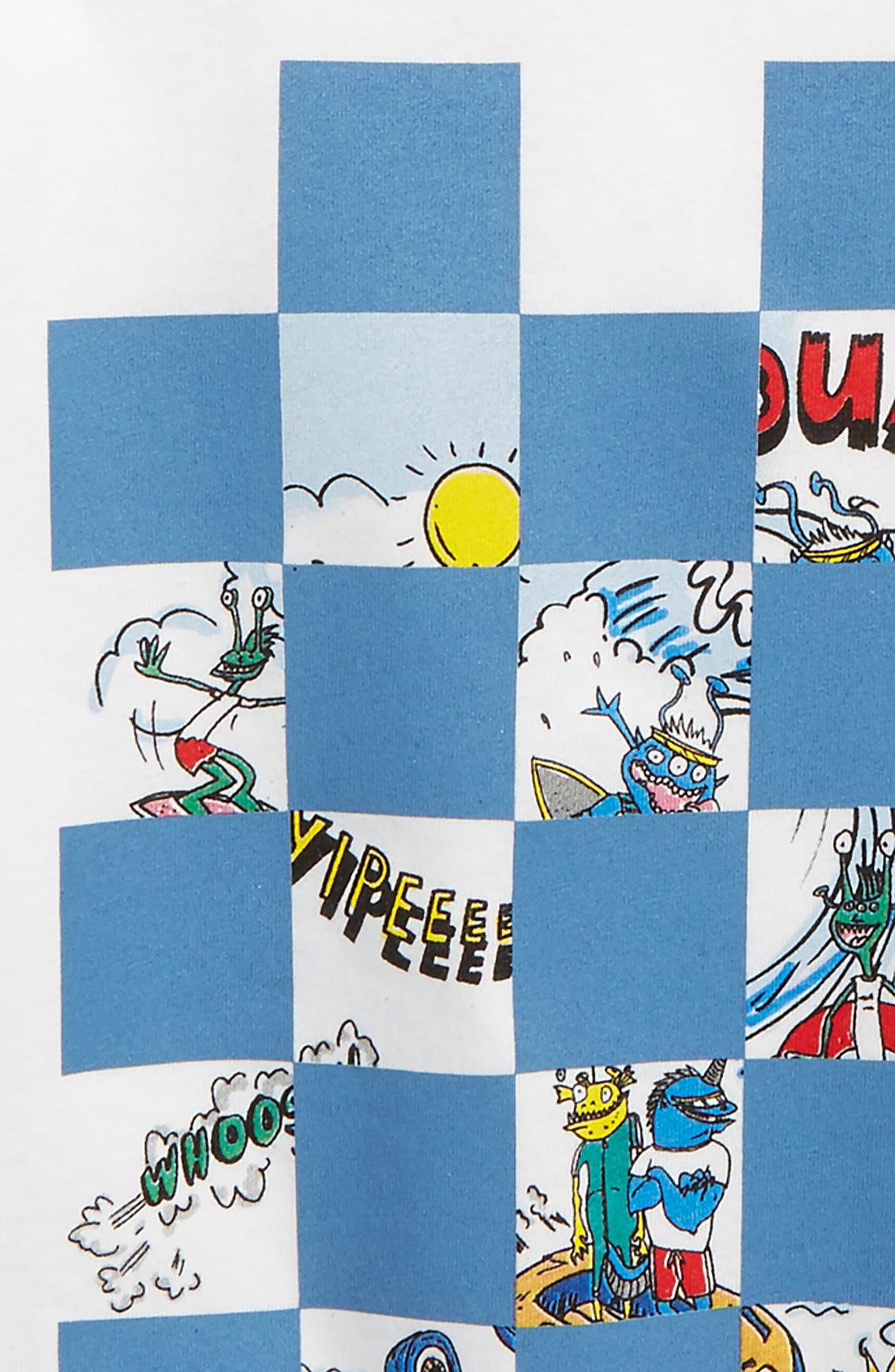 Arrow Checkered Cartoon T-Shirt,                             Alternate thumbnail 2, color,                             100