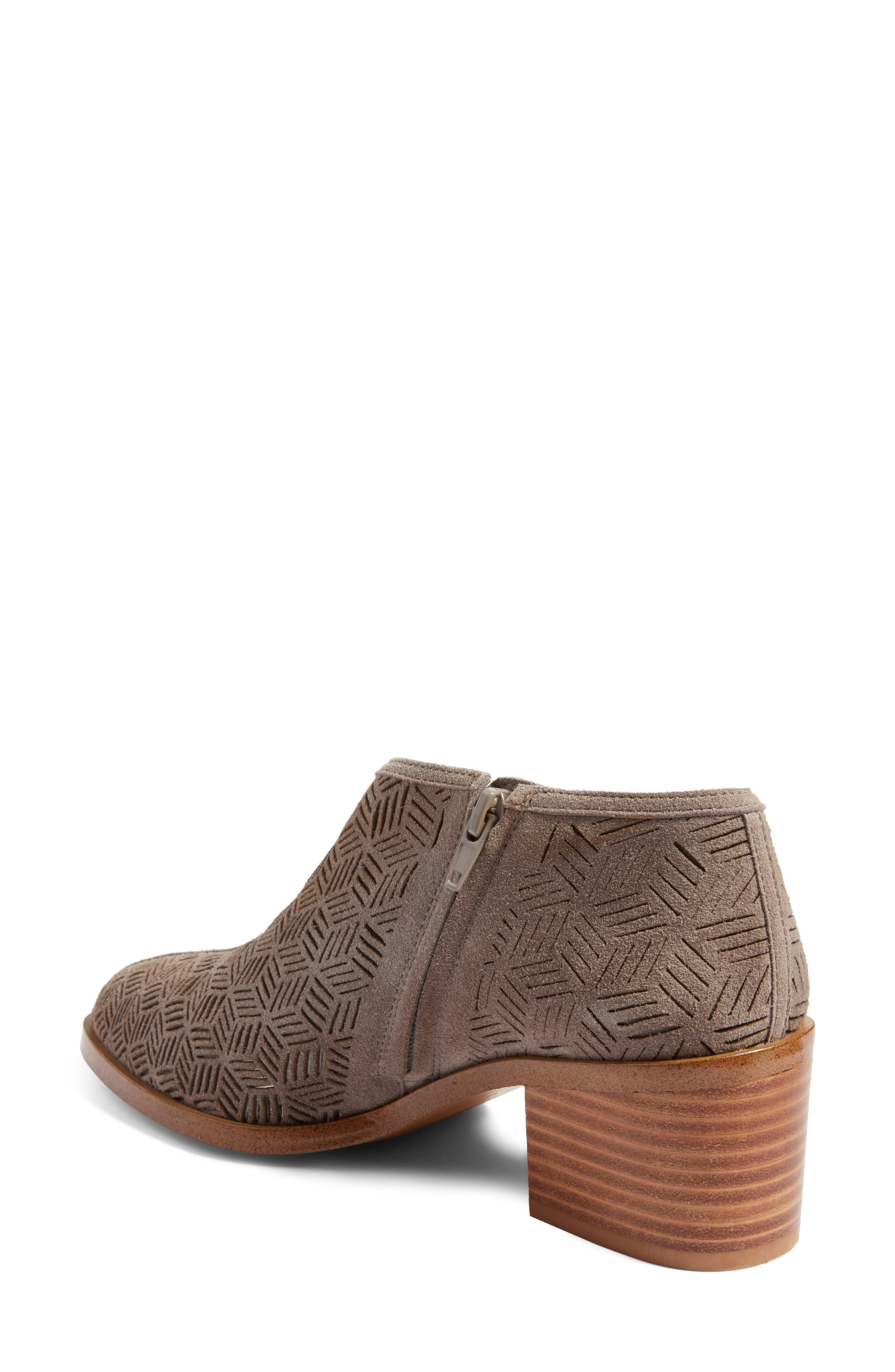Iddah Perforated Cutaway Bootie,                             Alternate thumbnail 9, color,
