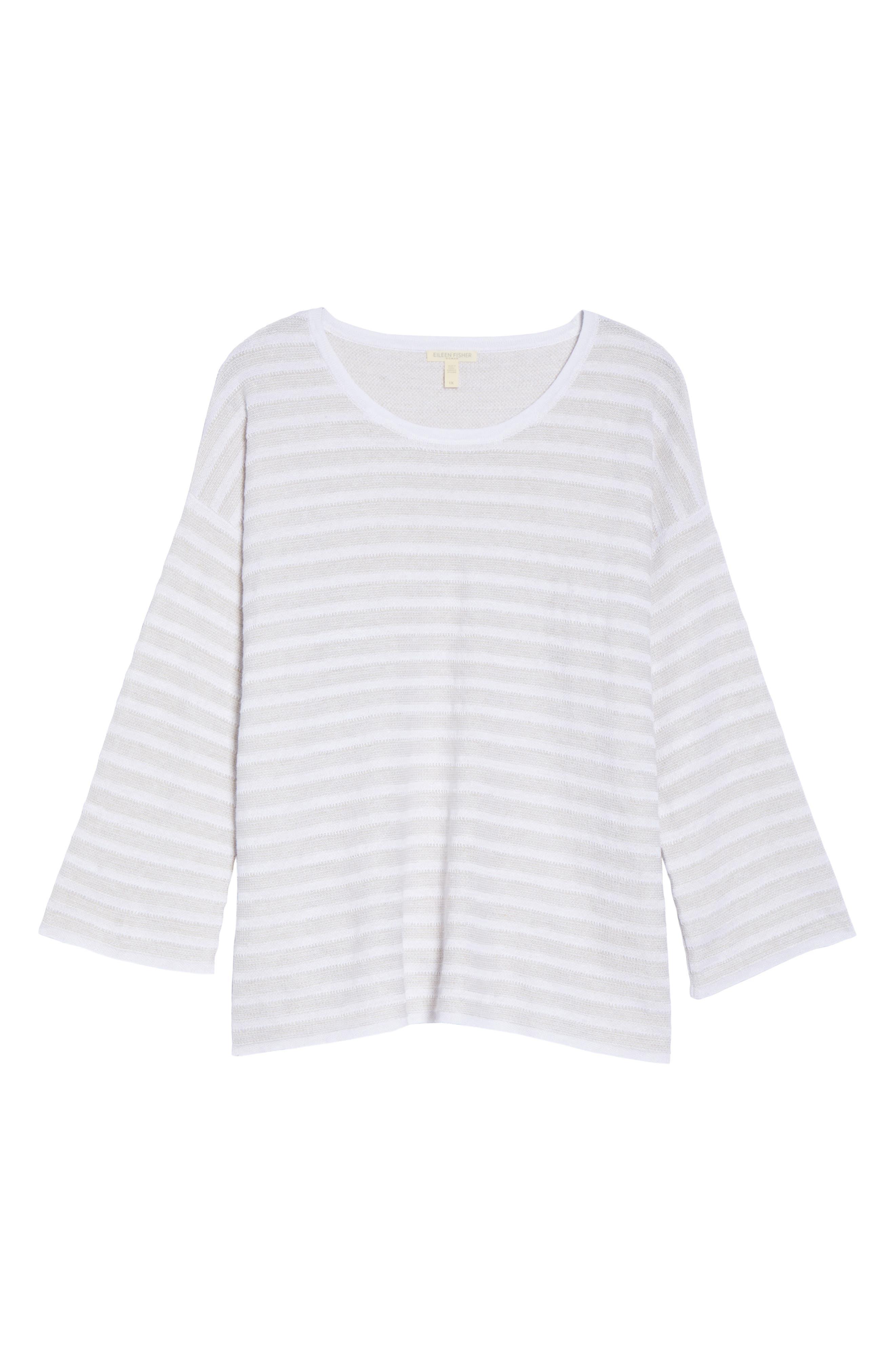 Textured Organic Linen Sweater,                             Alternate thumbnail 6, color,