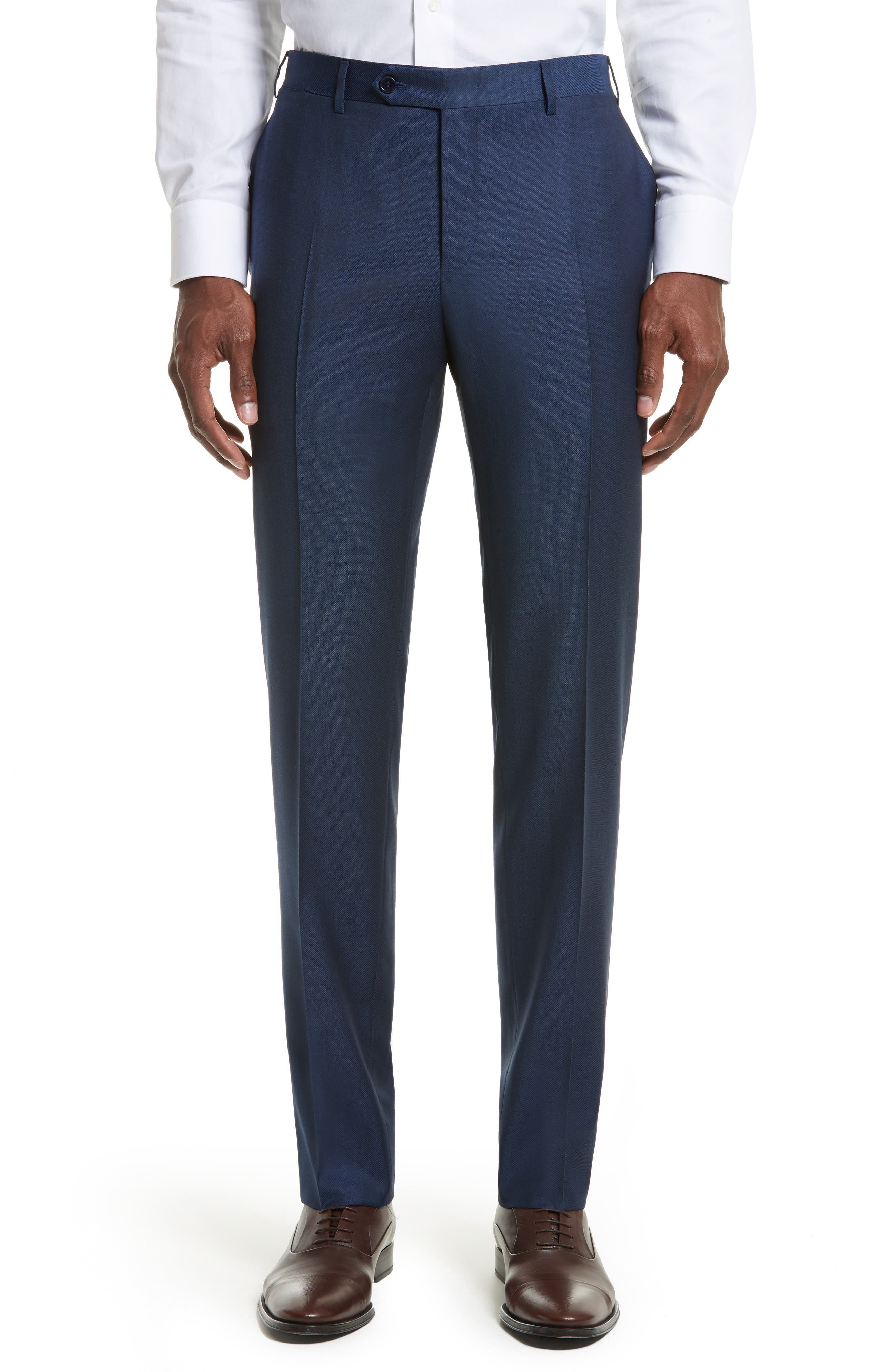 Classic Fit Solid Wool Suit,                             Alternate thumbnail 6, color,                             400