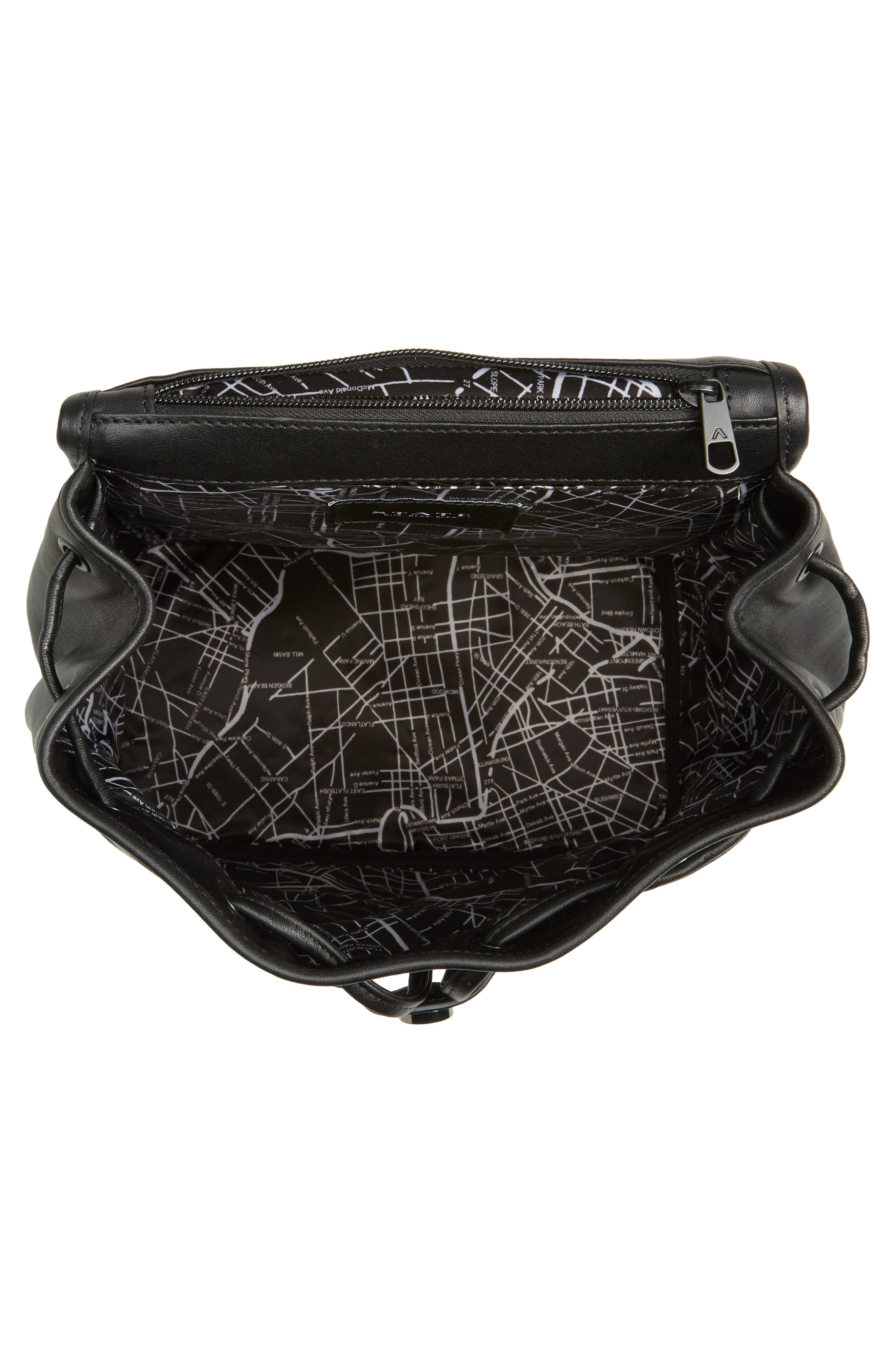 Parkville Hattie Leather Backpack,                             Alternate thumbnail 4, color,                             001