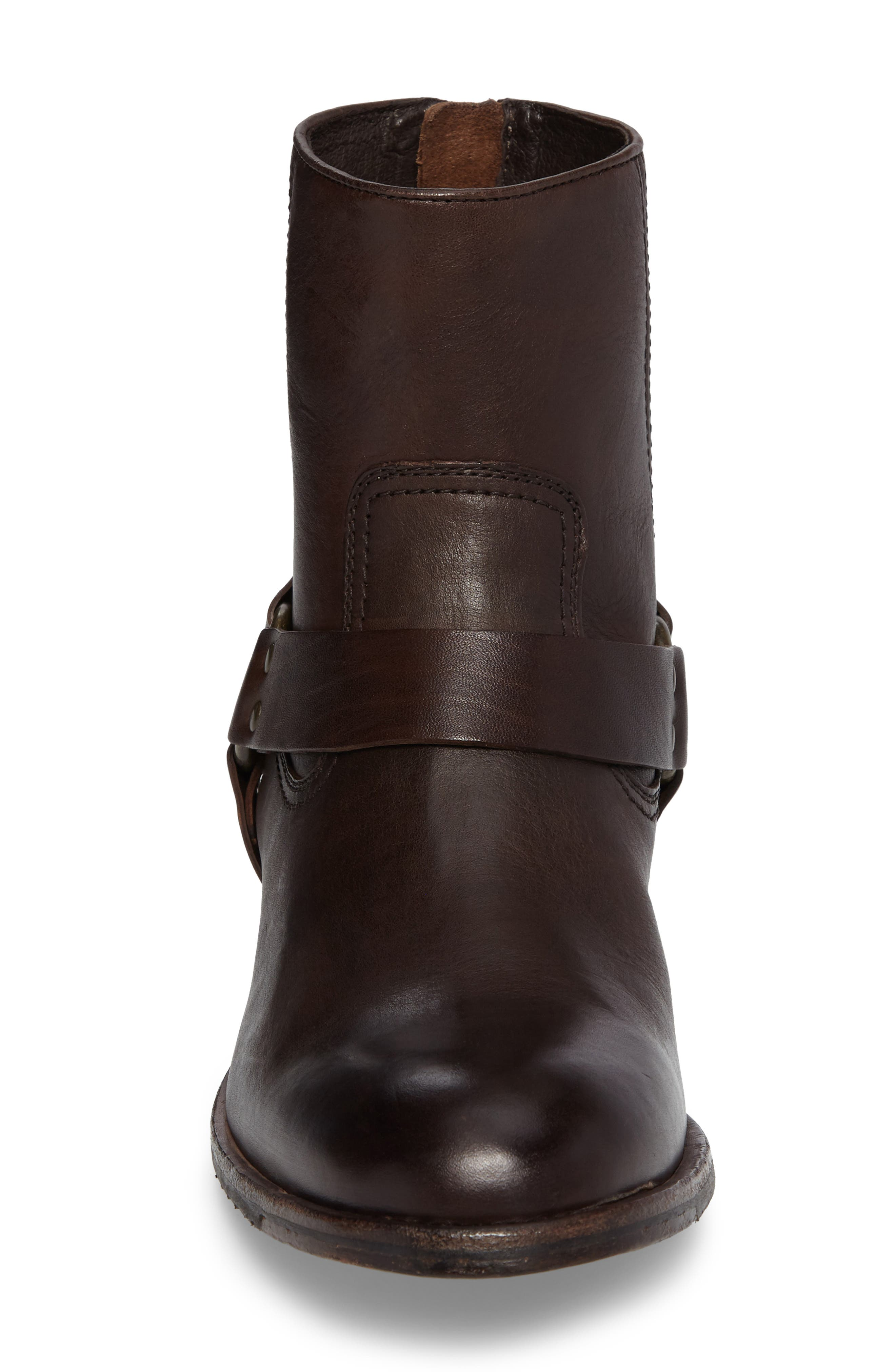 Sam Harness Boot,                             Alternate thumbnail 4, color,                             DARK BROWN LEATHER