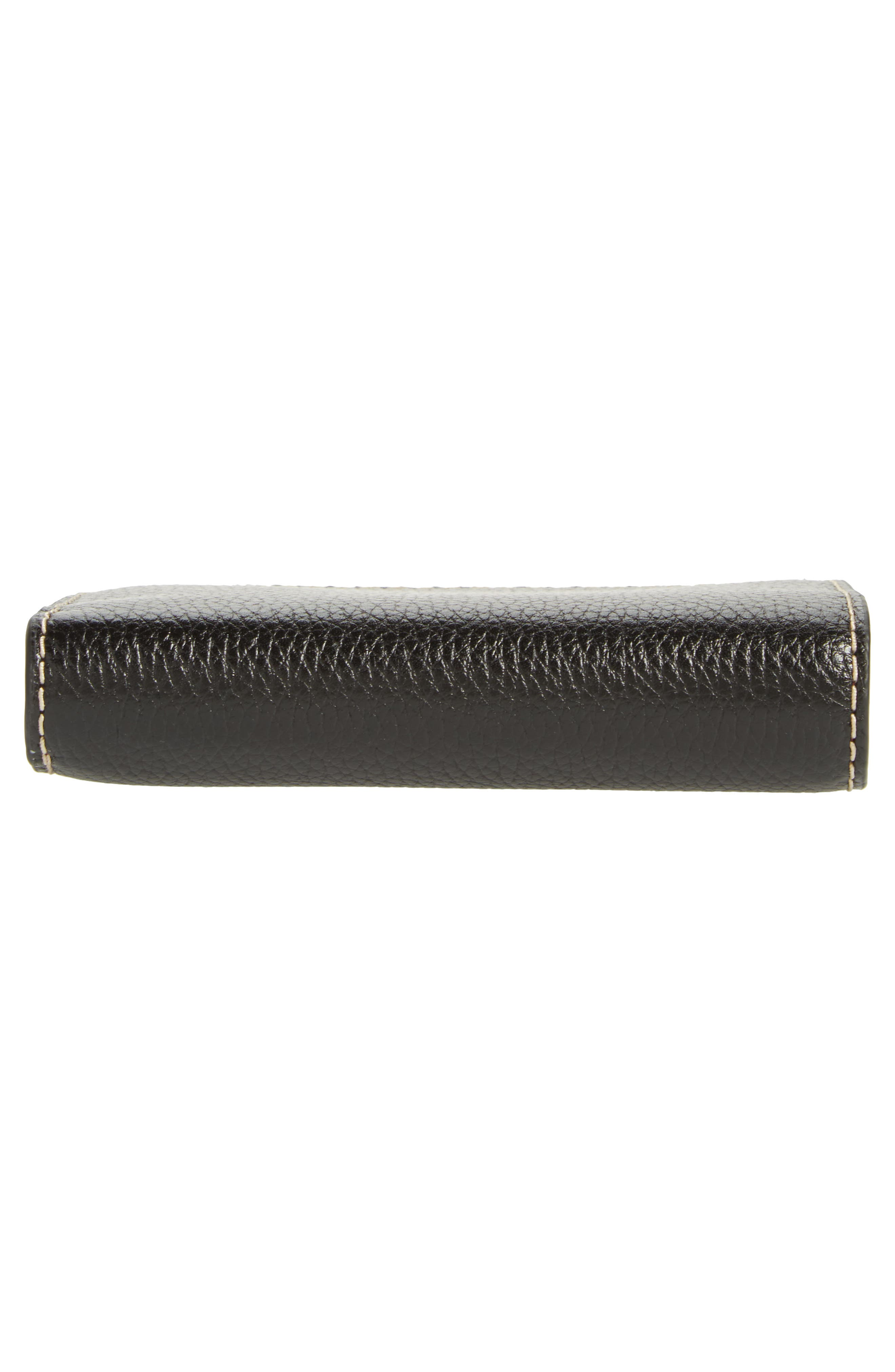 The Grind Compact Leather Wallet,                             Alternate thumbnail 6, color,                             001