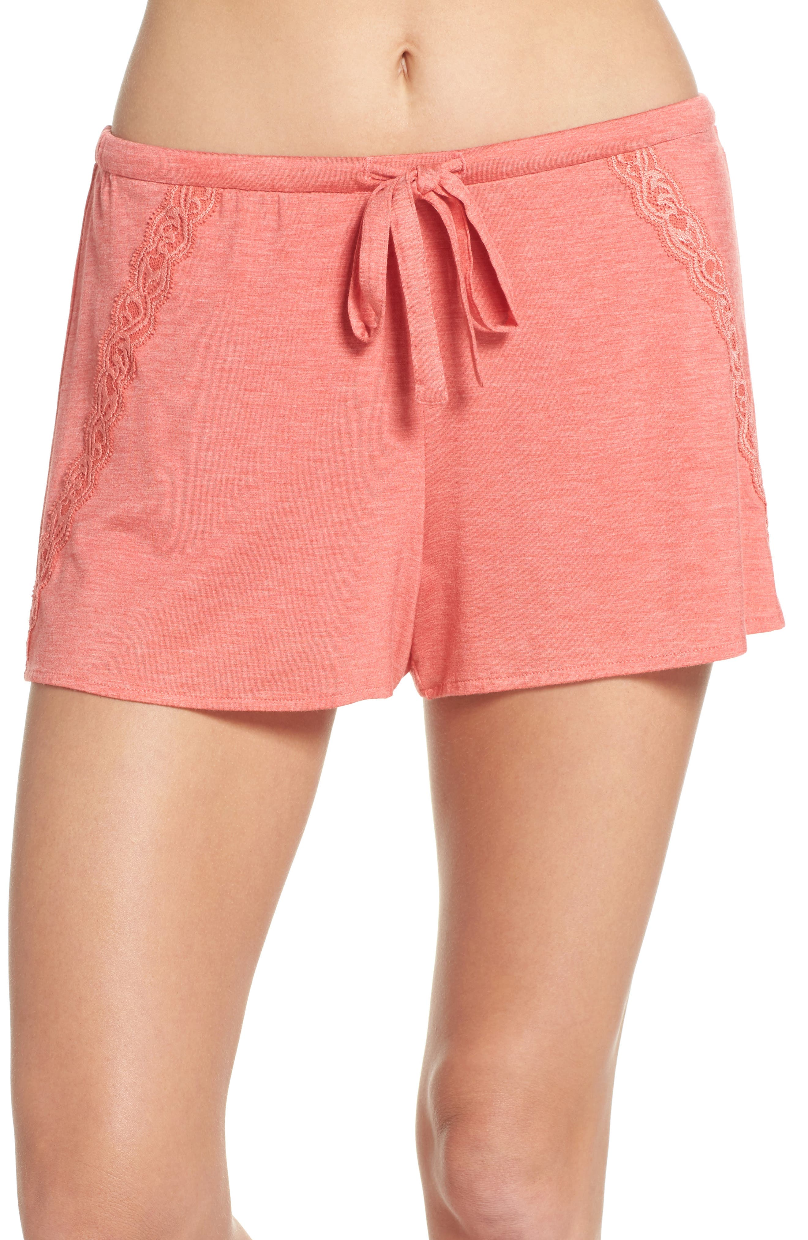 Feathers Essential Pajama Shorts,                             Main thumbnail 2, color,