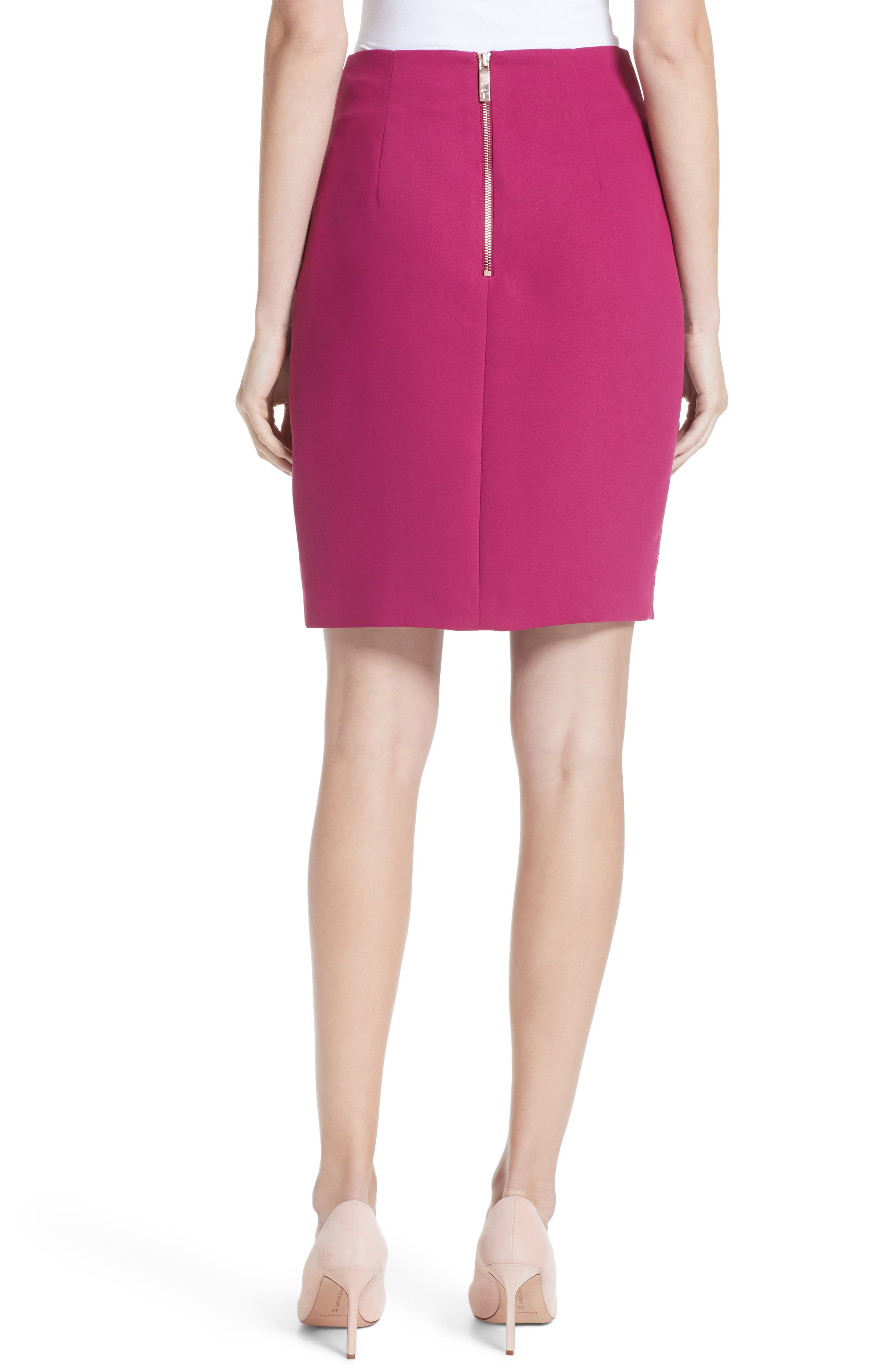 Kalena Serenity Side Slit Pencil Skirt,                             Alternate thumbnail 2, color,                             930