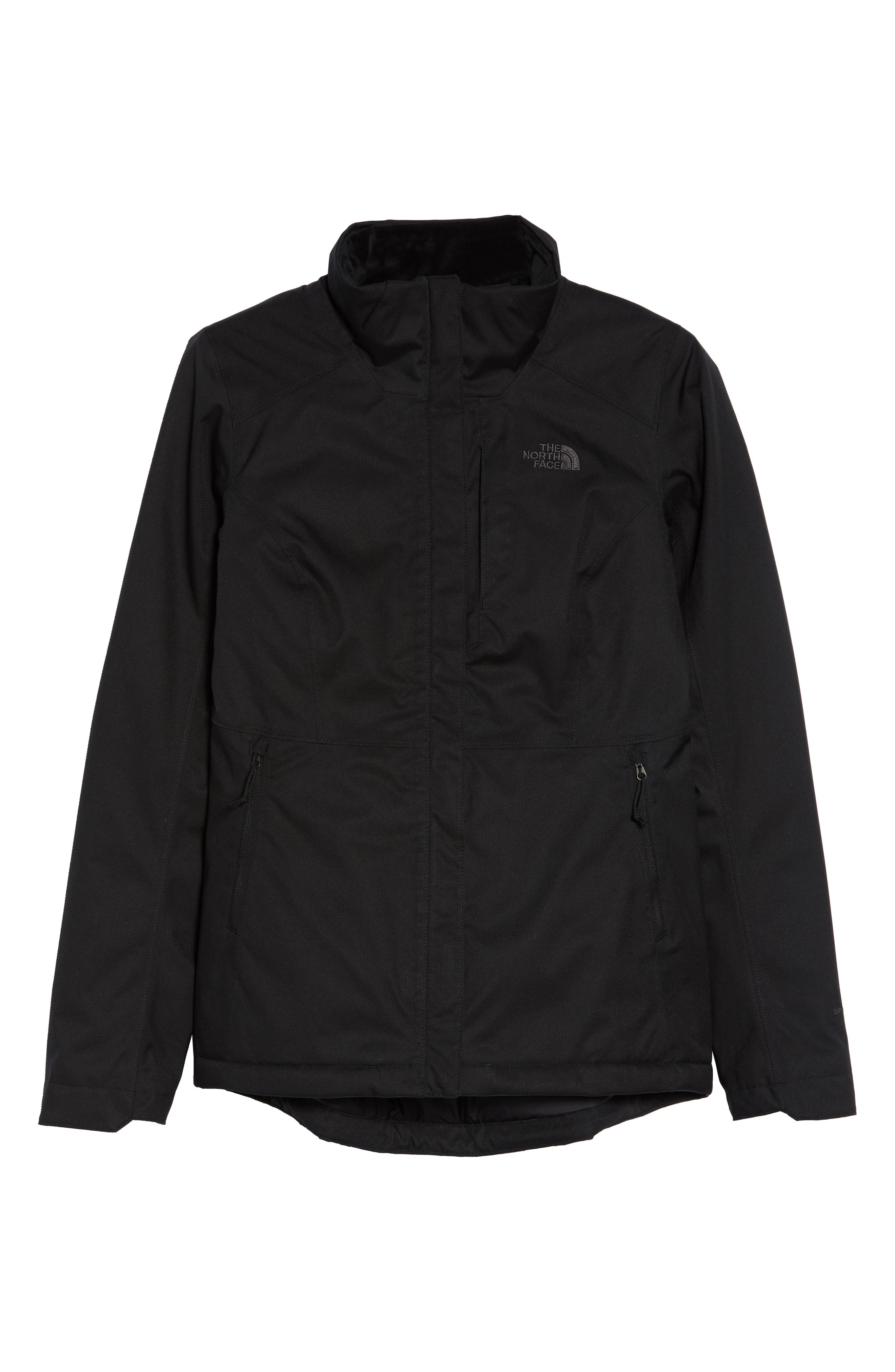 Inlux 2.0 Standard Fit Hooded DryVent Jacket,                             Alternate thumbnail 6, color,                             TNF BLACK