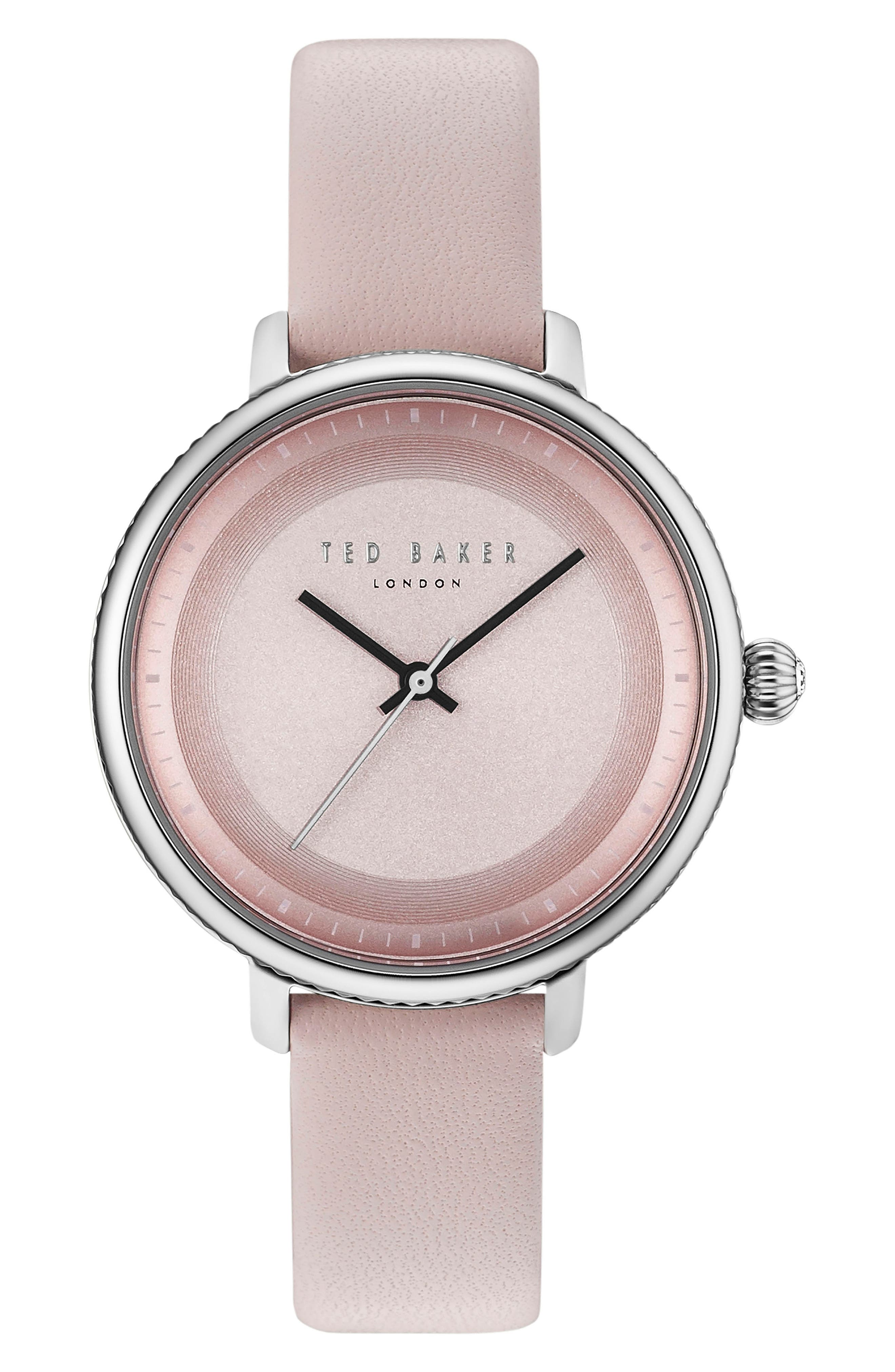 Isla Round Leather Strap Watch, 36mm,                             Main thumbnail 6, color,