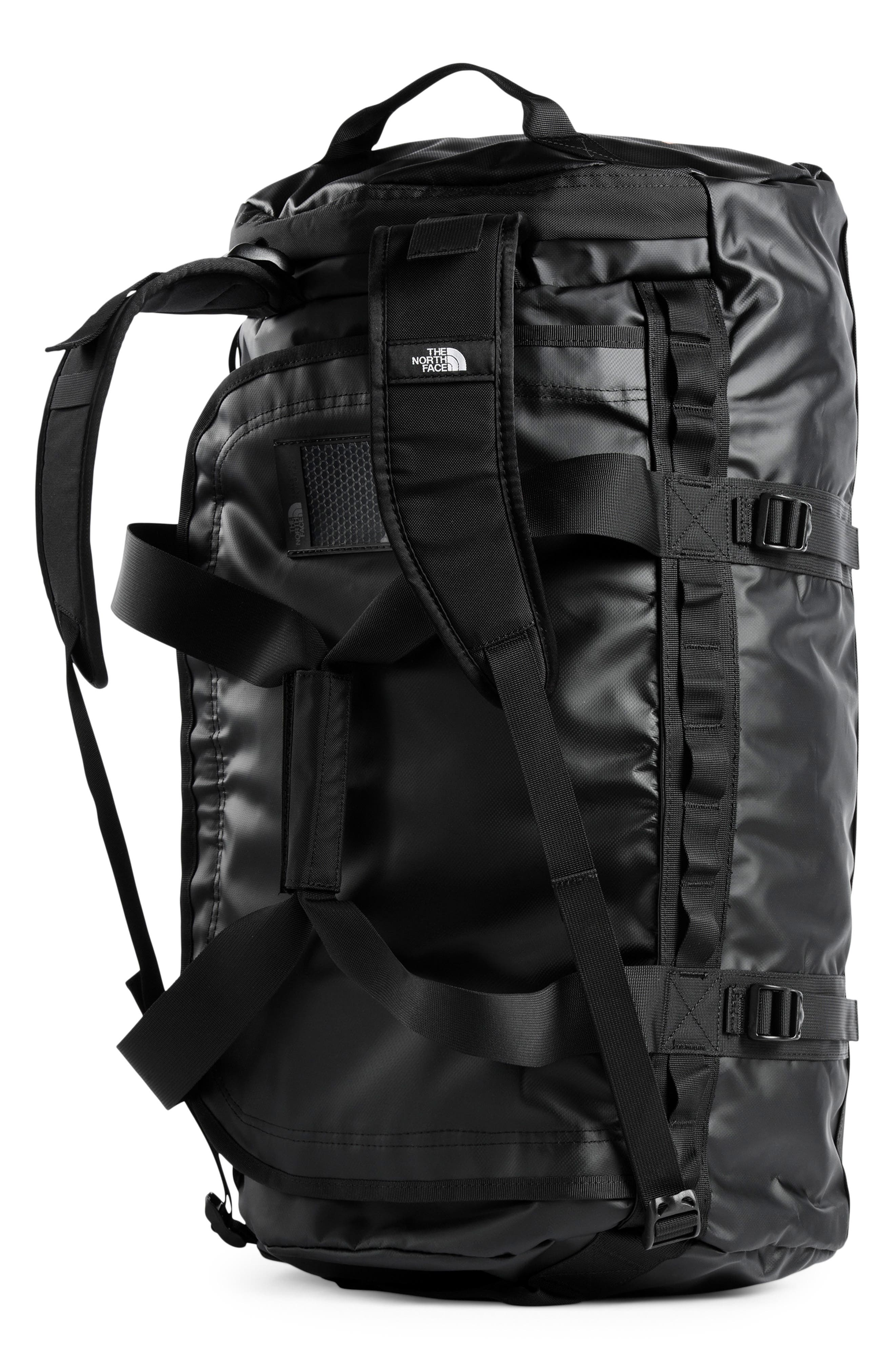 Base Camp Water Resistant Duffel Bag,                             Alternate thumbnail 3, color,                             TNF BLACK/ METALLIC COPPER