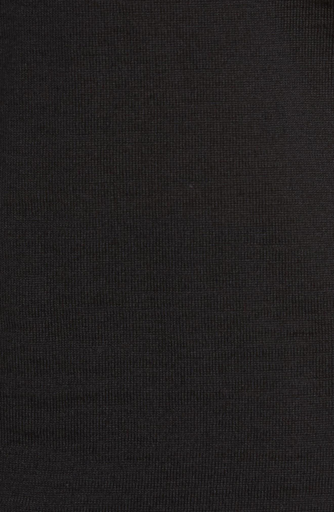 Musso Slim Fit Wool Turtleneck Sweater,                             Alternate thumbnail 5, color,                             BLACK