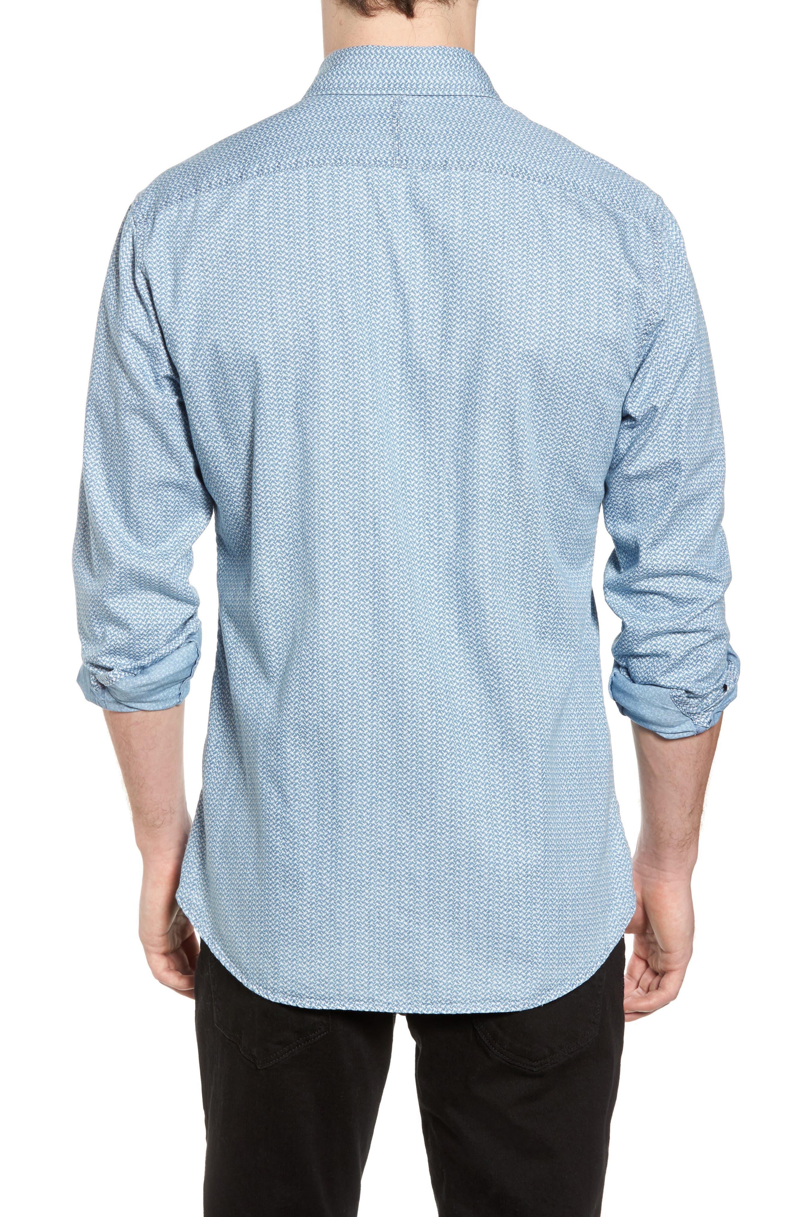 Print Woven Shirt,                             Alternate thumbnail 2, color,                             420