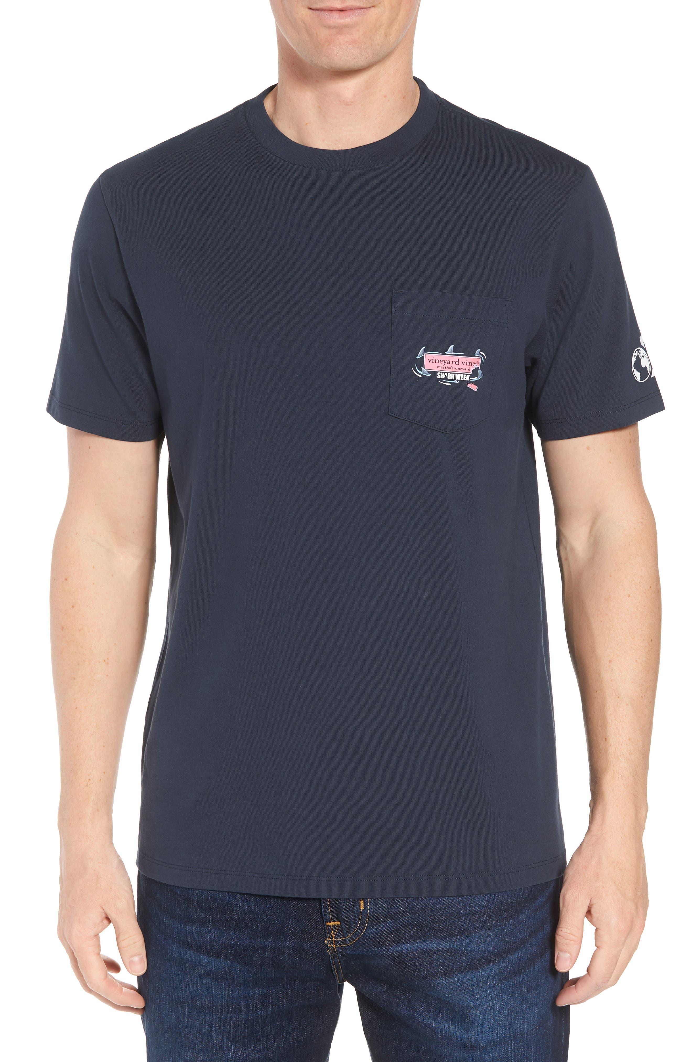 x Shark Week<sup>™</sup> Circling Sharks Pocket T-Shirt,                         Main,                         color, 406