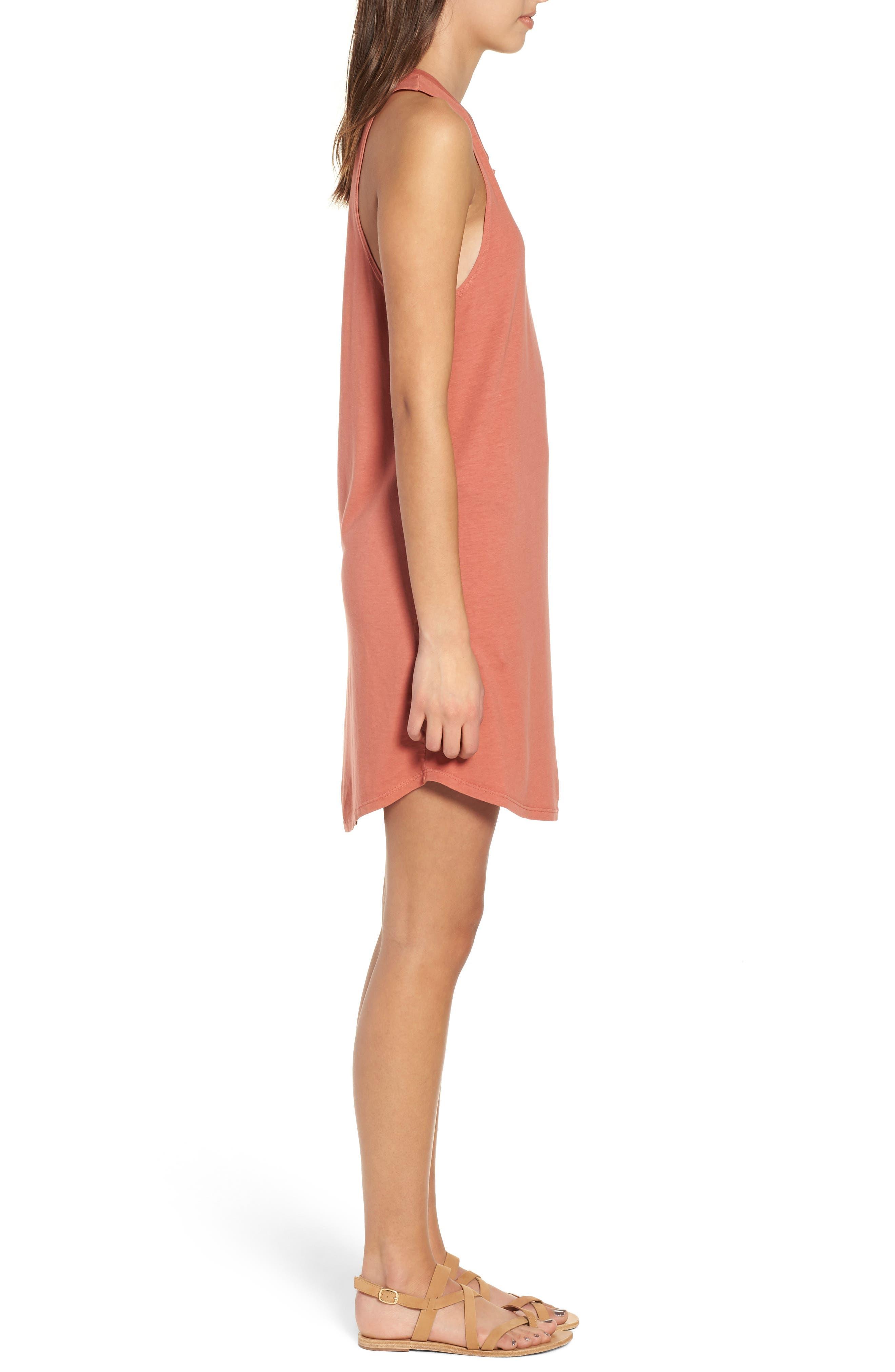 Pocket Tank Dress,                             Alternate thumbnail 3, color,                             PINK DESERT