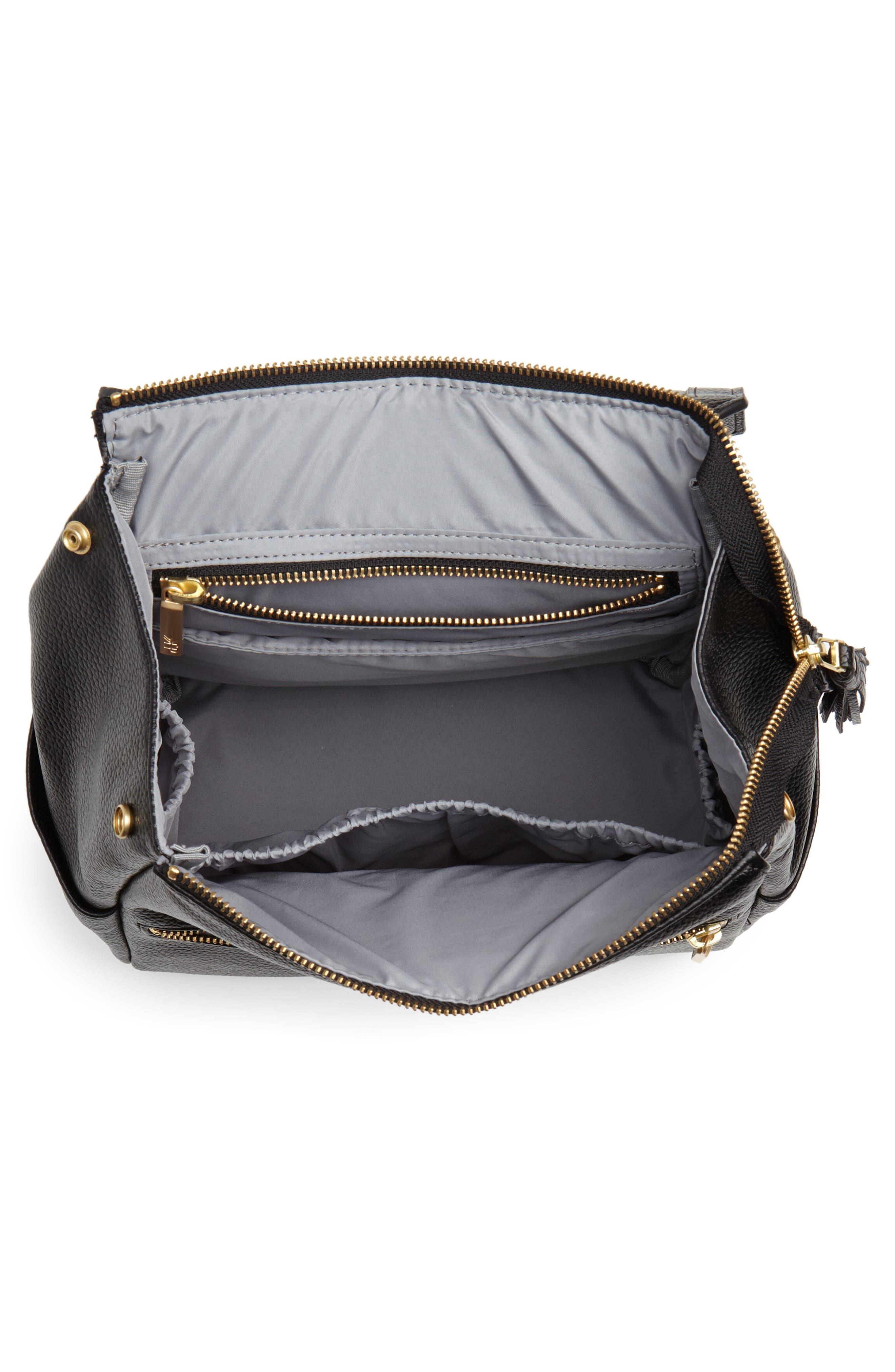 Mini Convertible Diaper Bag,                             Alternate thumbnail 4, color,                             EBONY