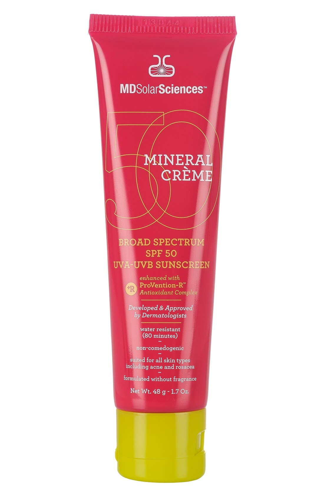 Mineral Crème Broad Spectrum SPF 50 Sunscreen,                             Alternate thumbnail 2, color,                             000
