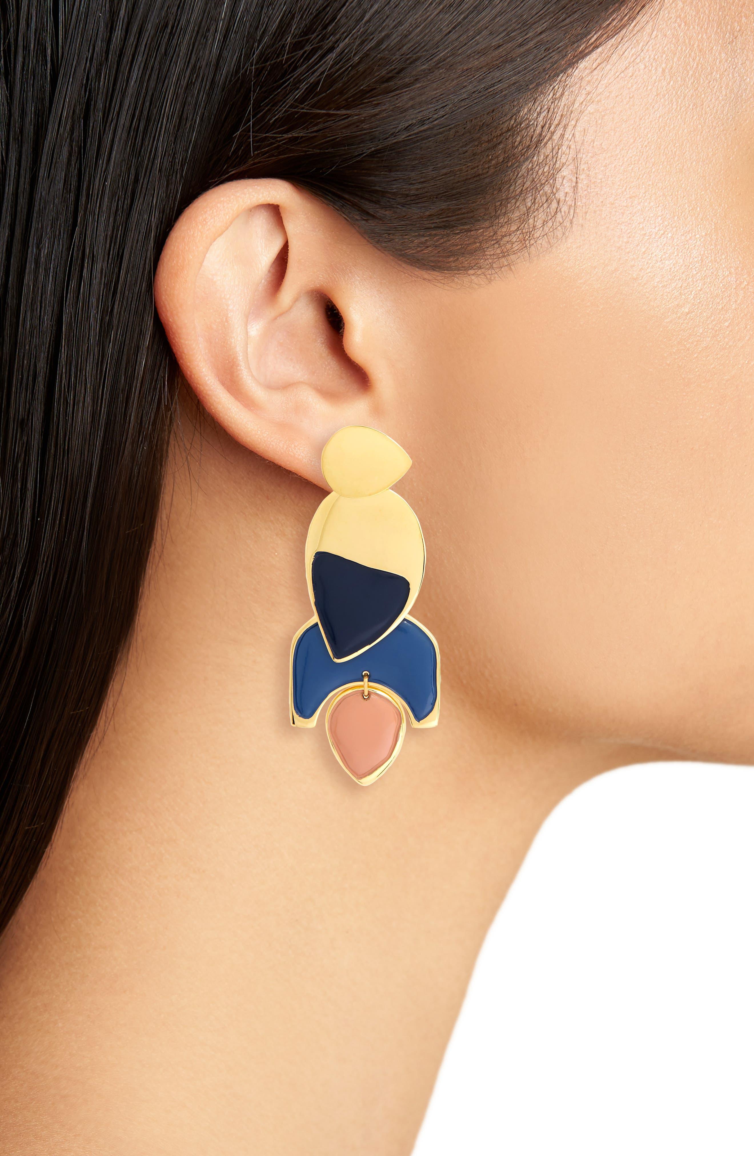 Blue Horizon Drop Earrings,                             Alternate thumbnail 2, color,                             400