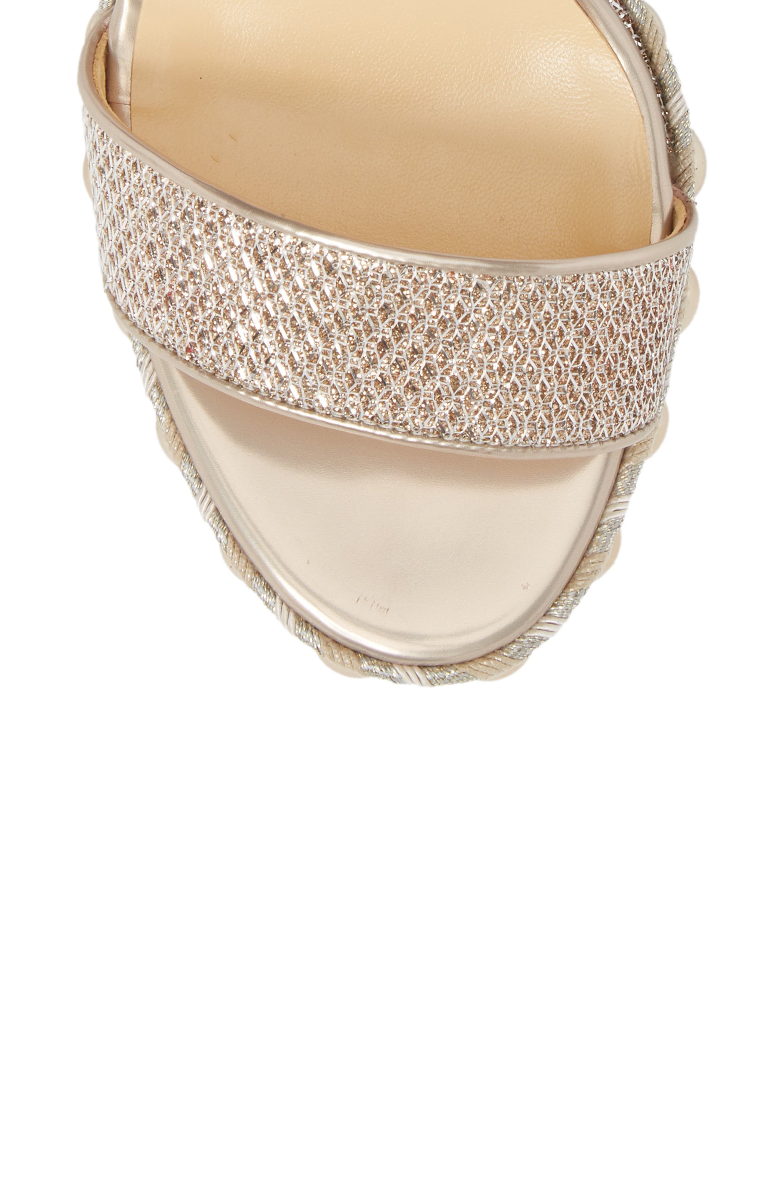 Chocazeppa Studded Wedge,                             Alternate thumbnail 5, color,                             COLOMBE