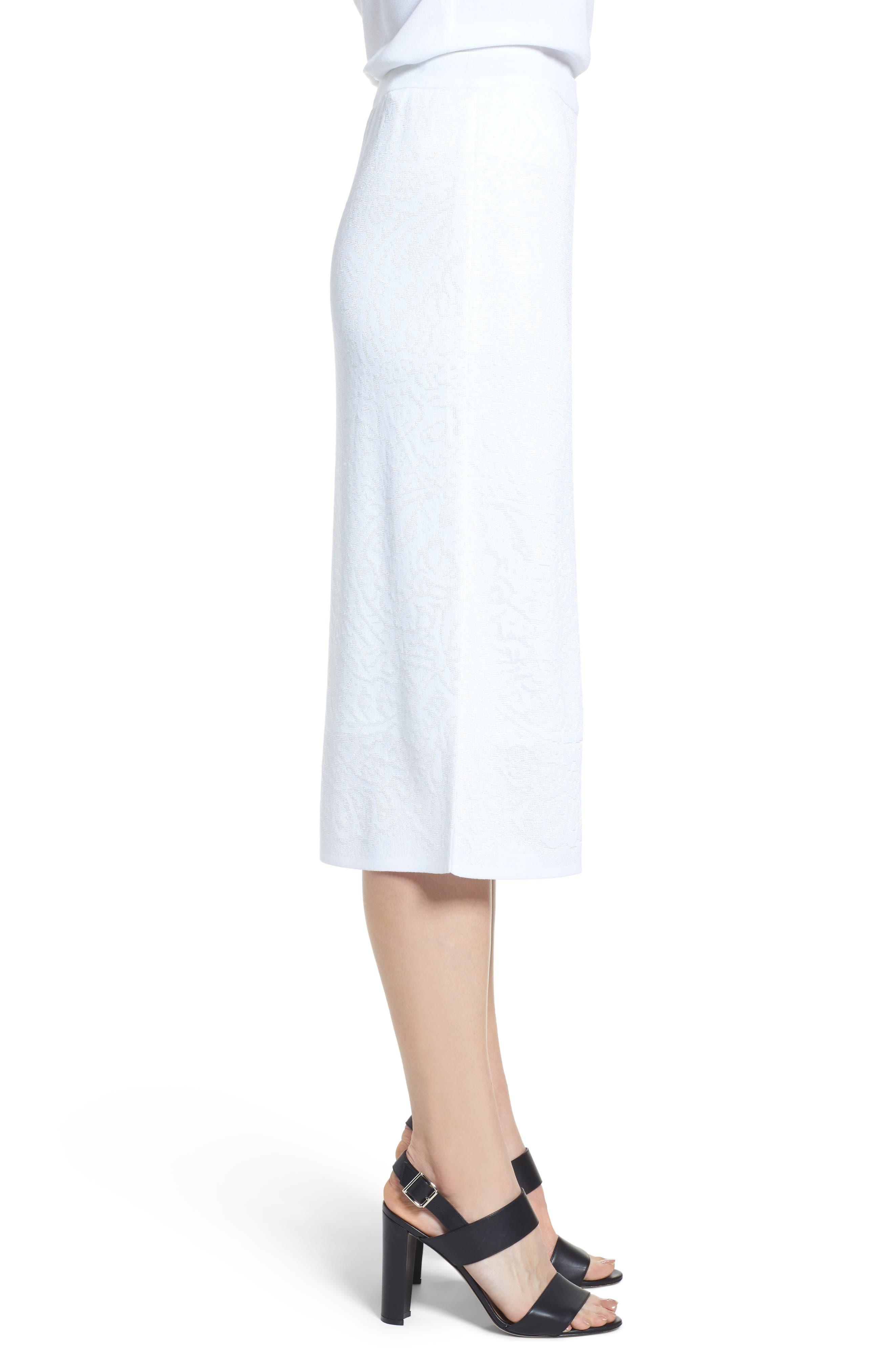 Jacquard Knit Straight Skirt,                             Alternate thumbnail 3, color,