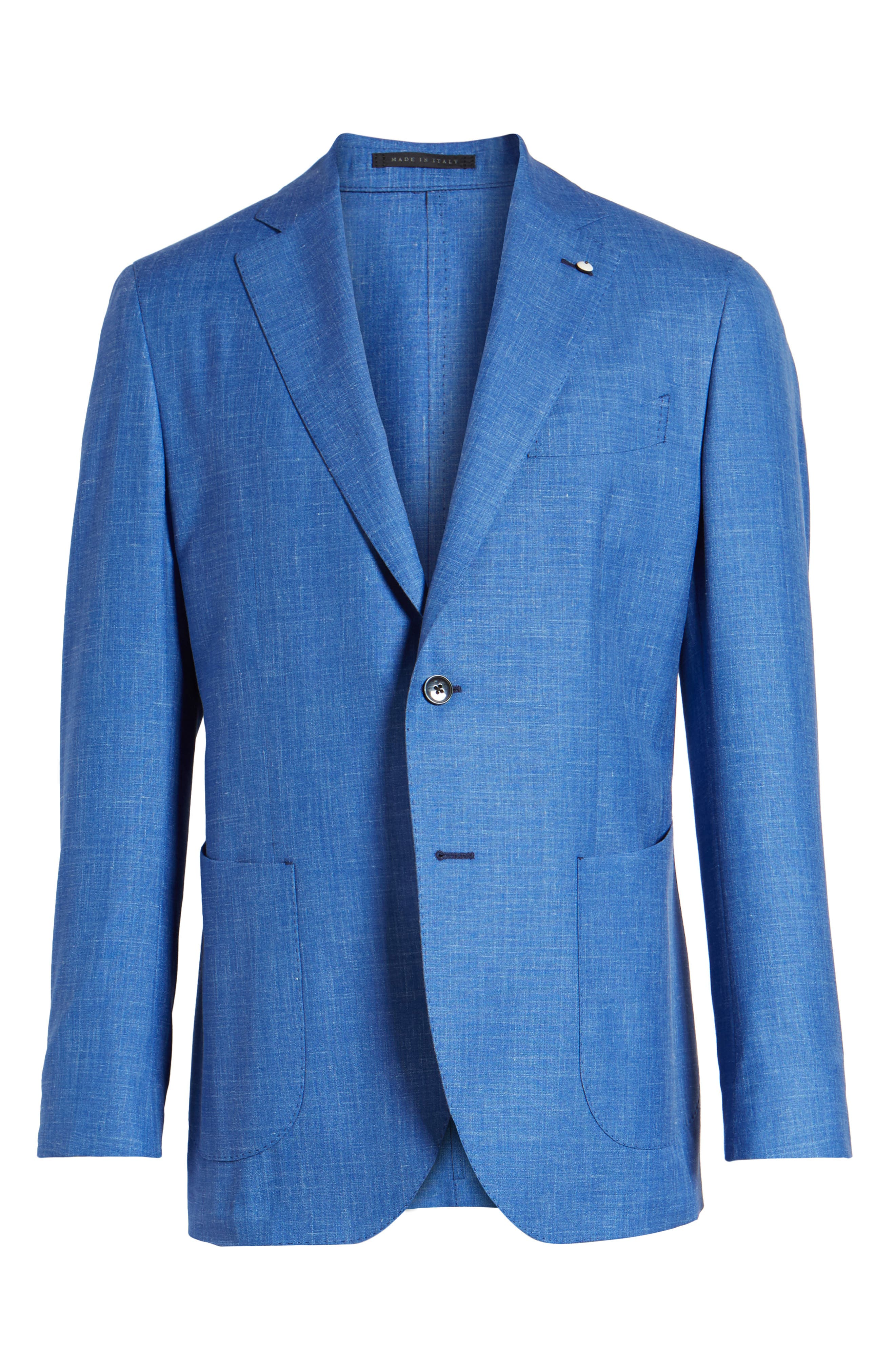 Classic Fit Wool Blend Blazer,                             Alternate thumbnail 5, color,                             410