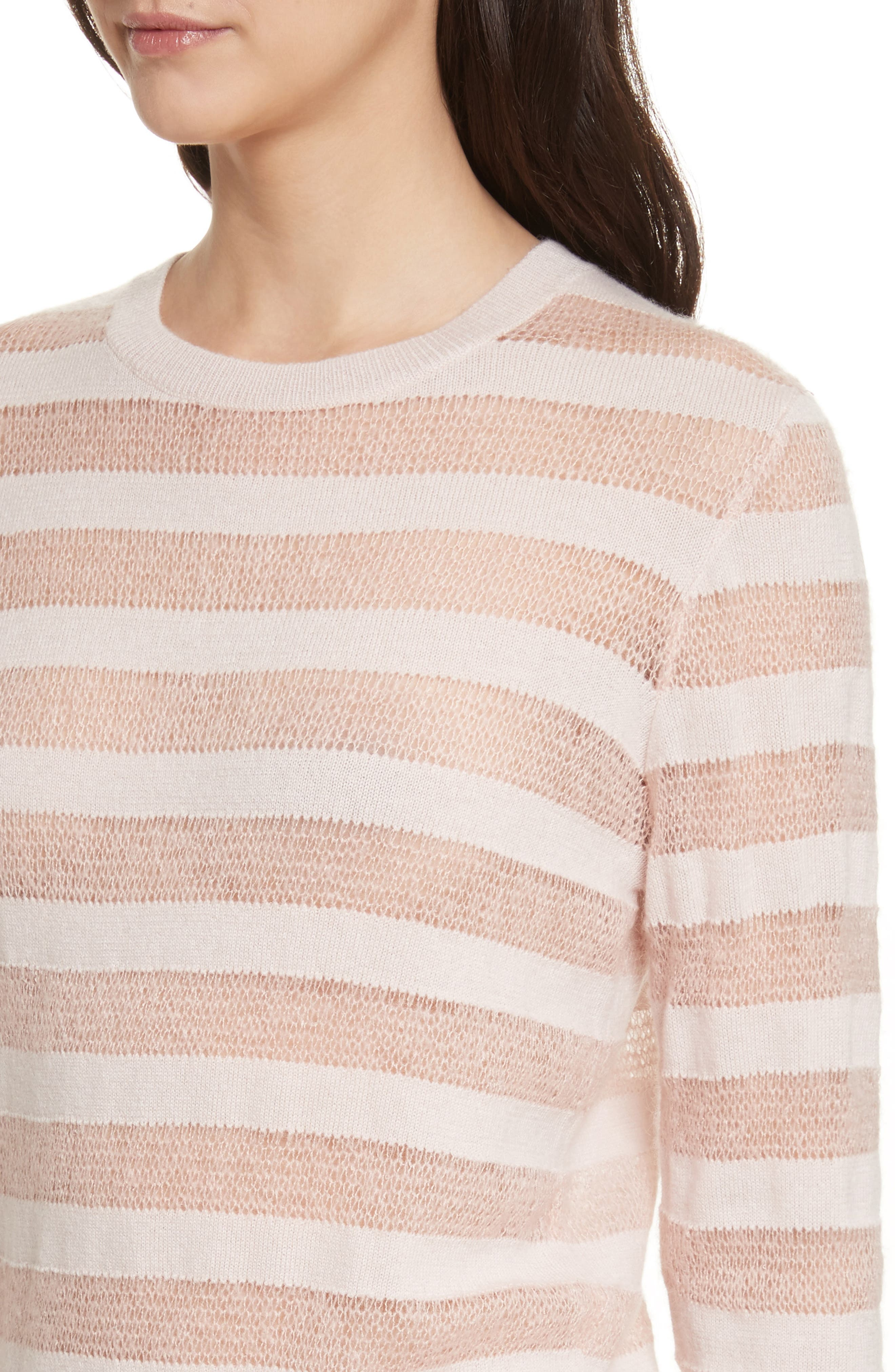 Theo Stripe Sweater,                             Alternate thumbnail 4, color,