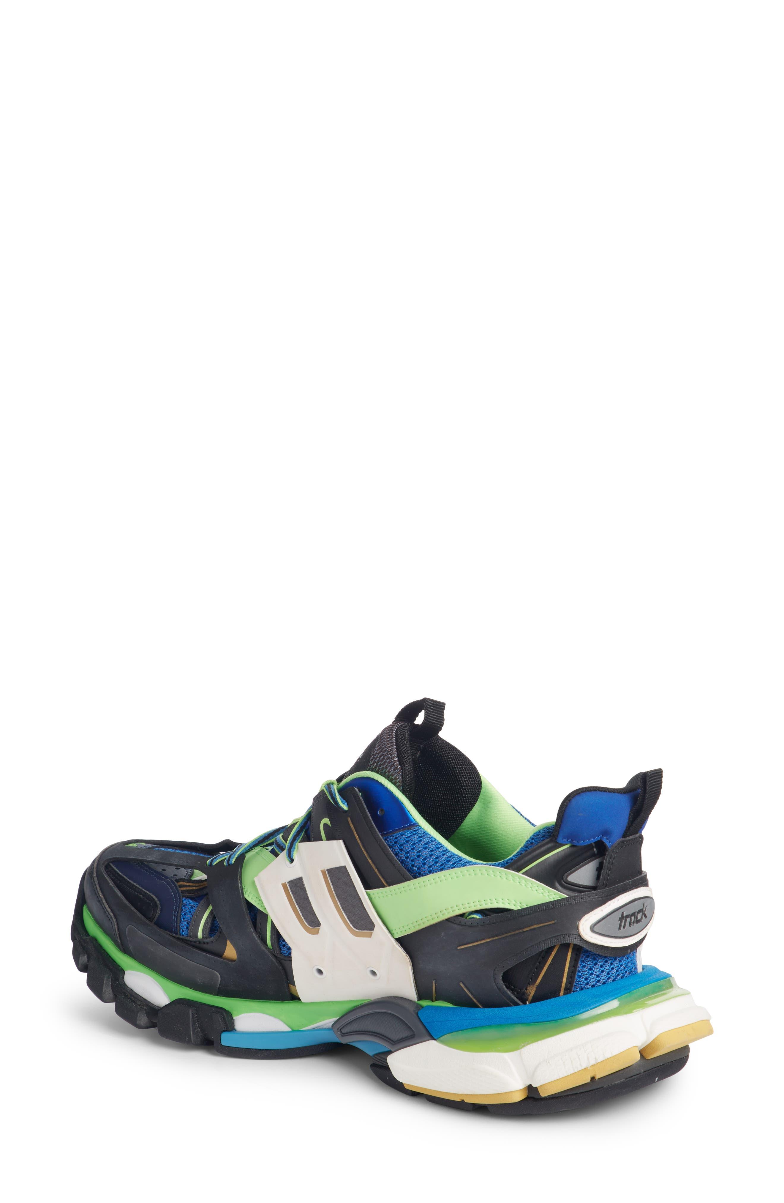 Track Sneaker,                             Alternate thumbnail 2, color,                             BLUE/ GREEN