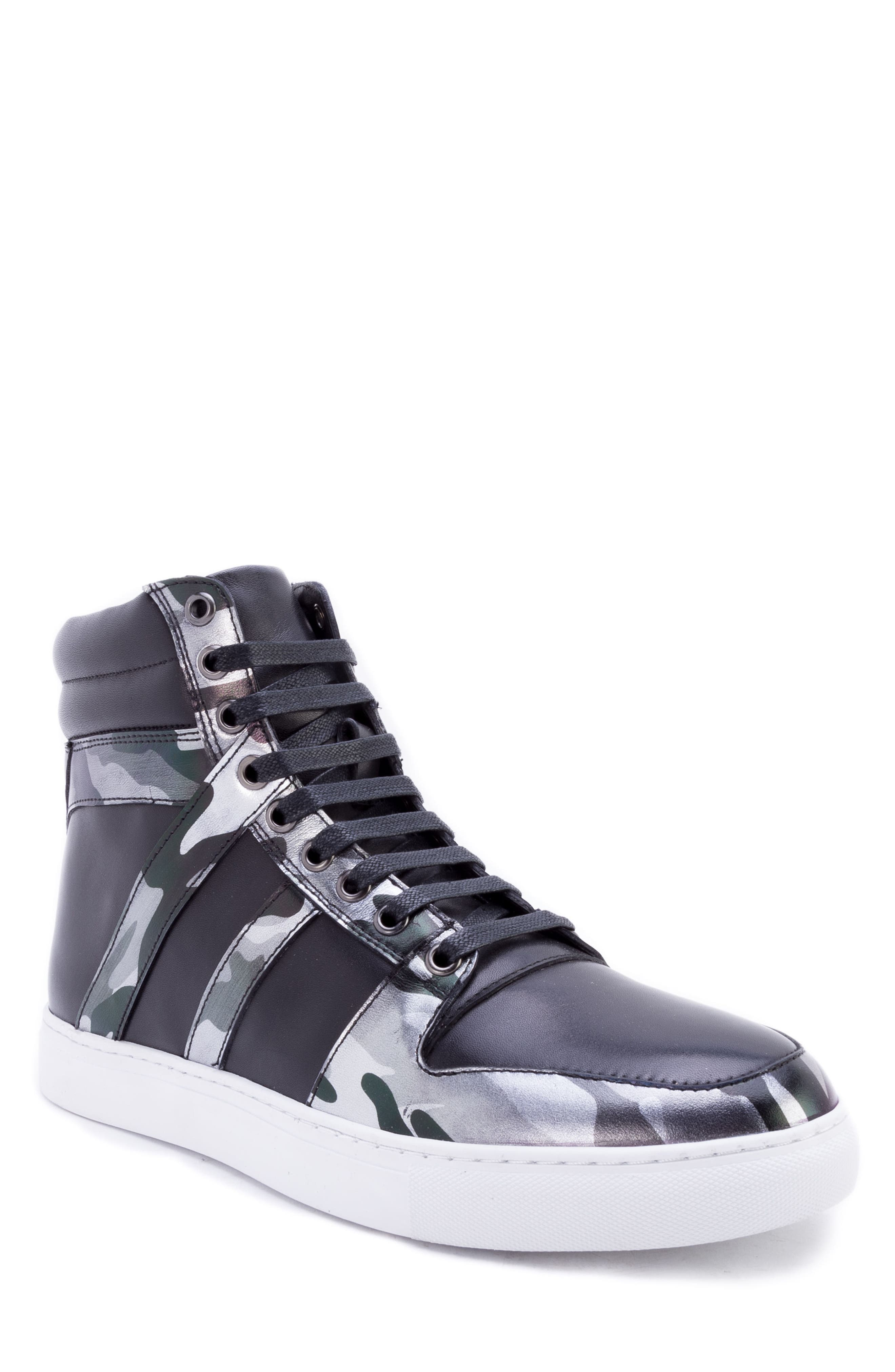Sutherland Sneaker,                         Main,                         color, BLACK LEATHER